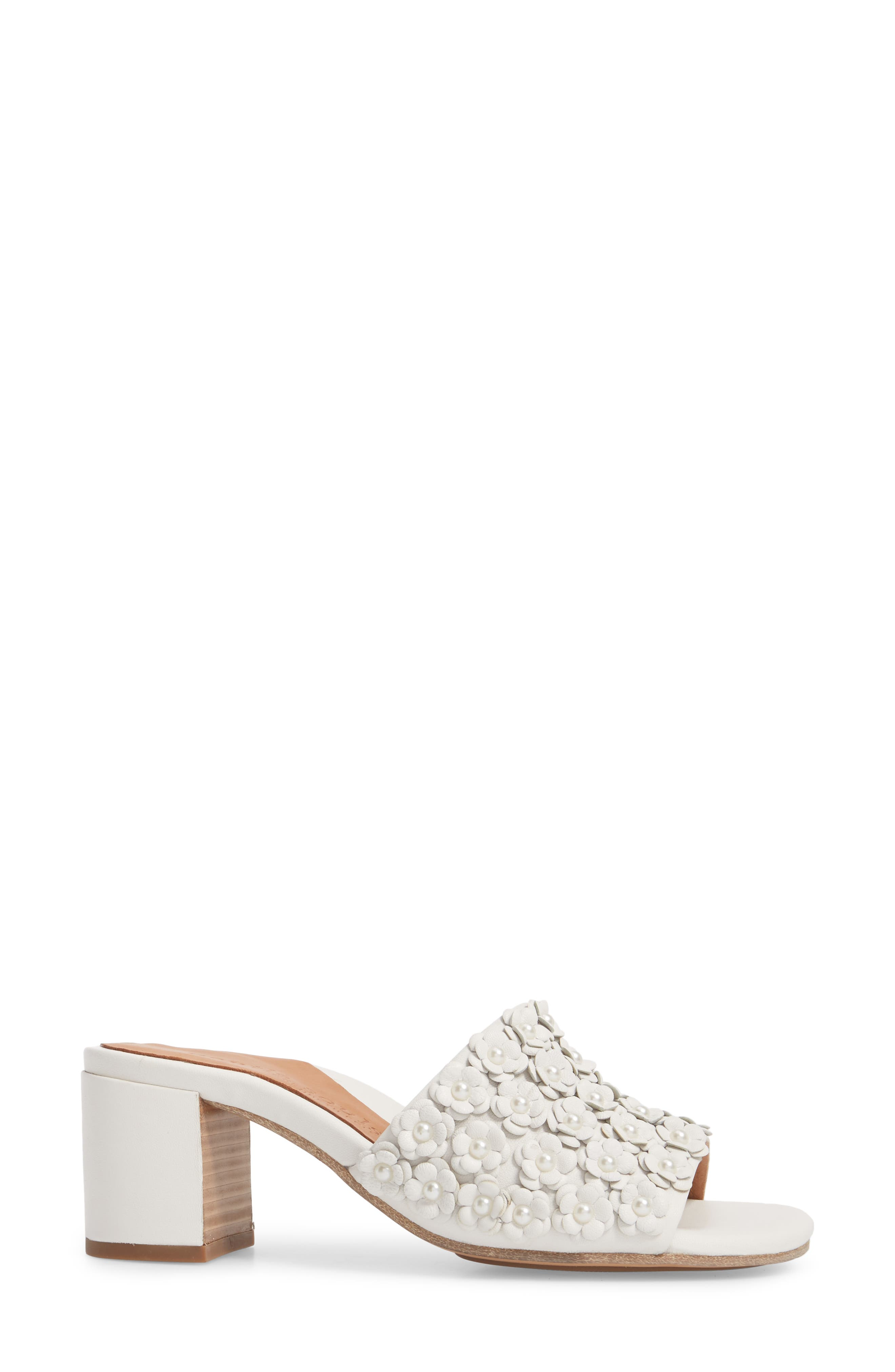 by Kenneth Cole Chantel Sandal,                             Alternate thumbnail 3, color,                             White Flowers Leather
