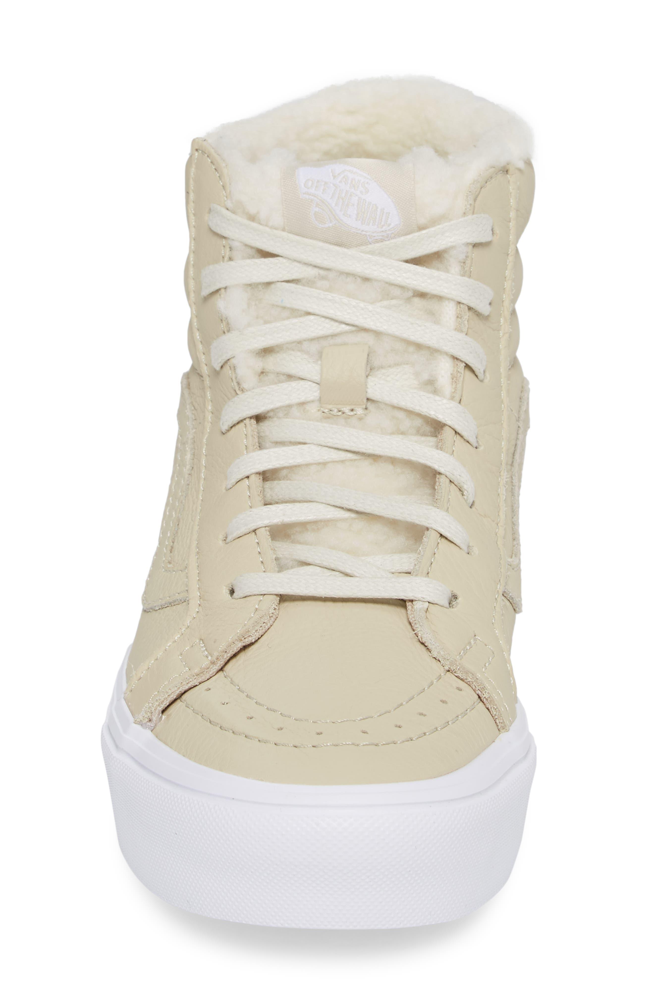 Sk8-Hi Reissue Lite High Top Sneaker,                             Alternate thumbnail 4, color,                             Cement/ True White