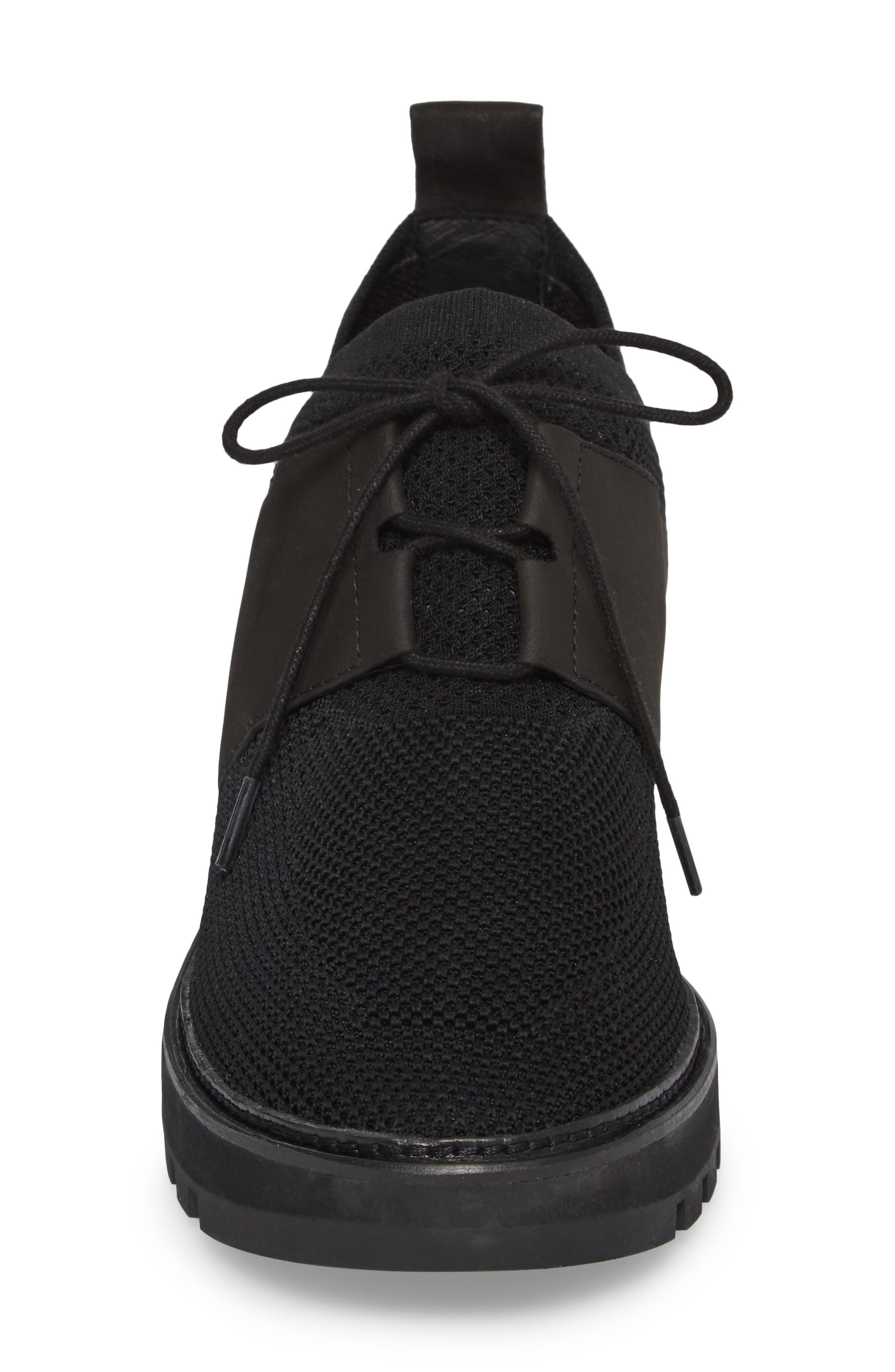 Wilson Sneaker,                             Alternate thumbnail 4, color,                             Black Fabric