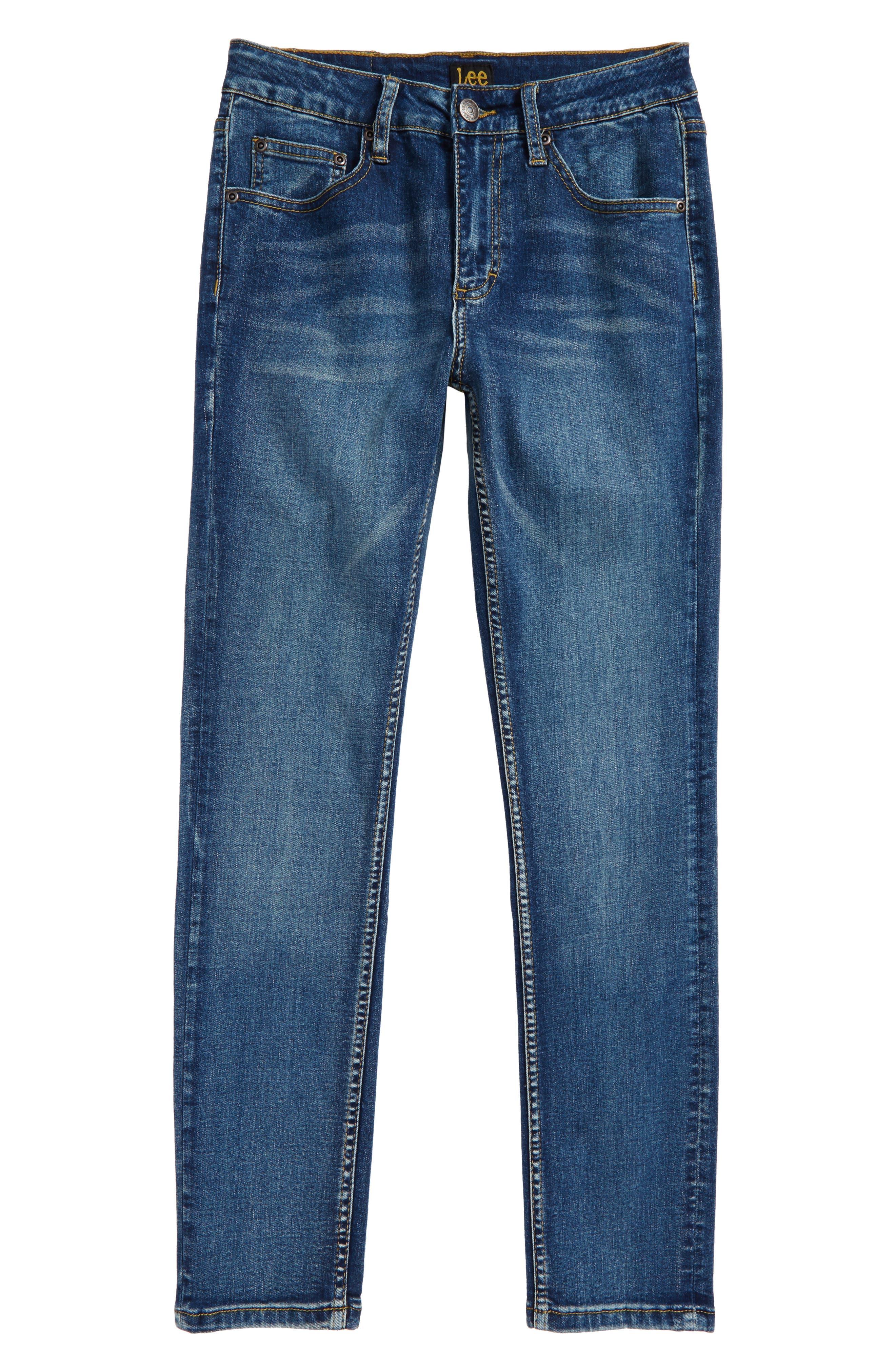 Stretch Skinny Jeans,                         Main,                         color, Atlantic