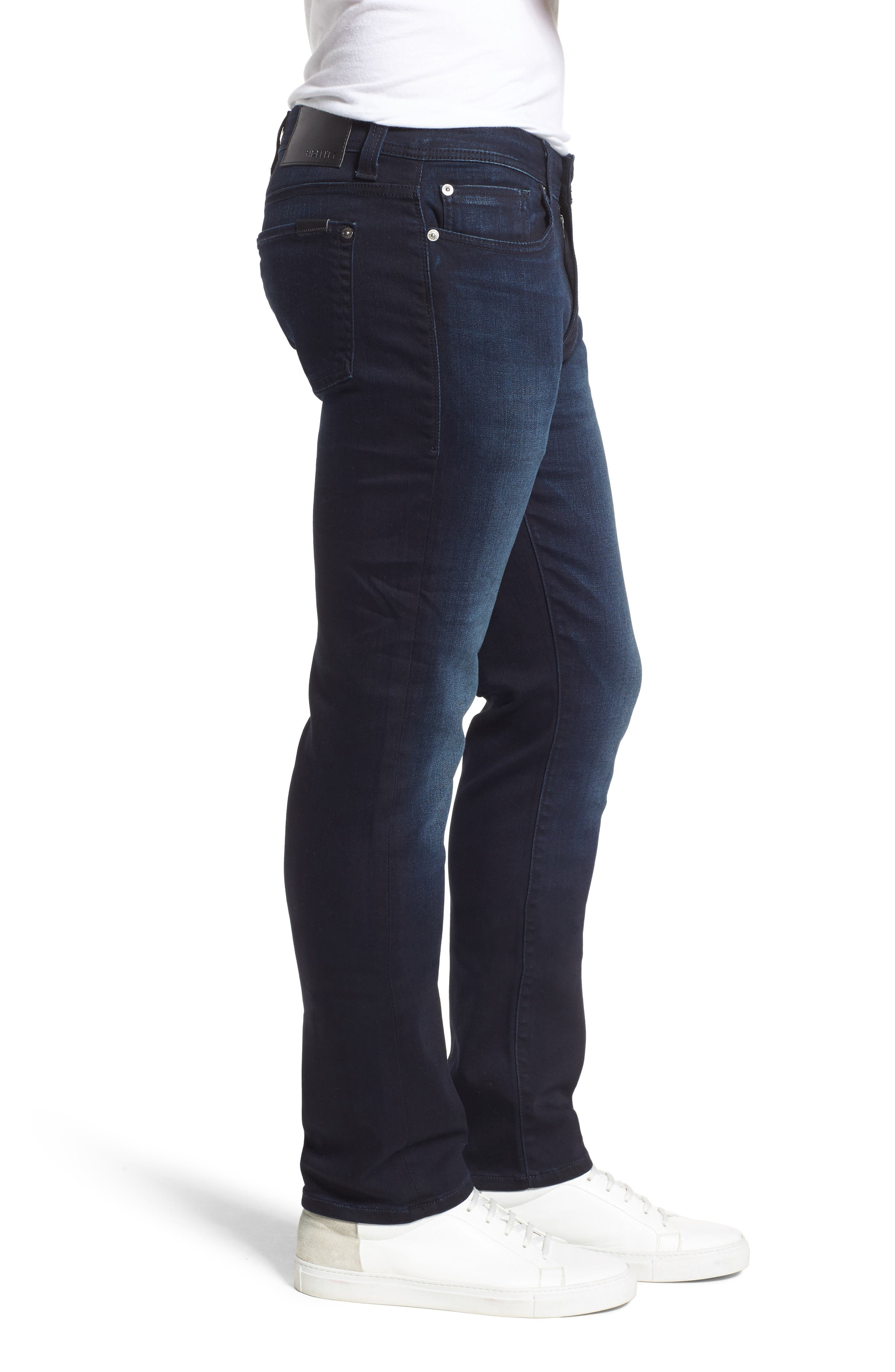 Jimmy Slim Straight Fit Jeans,                             Alternate thumbnail 3, color,                             Barracuda