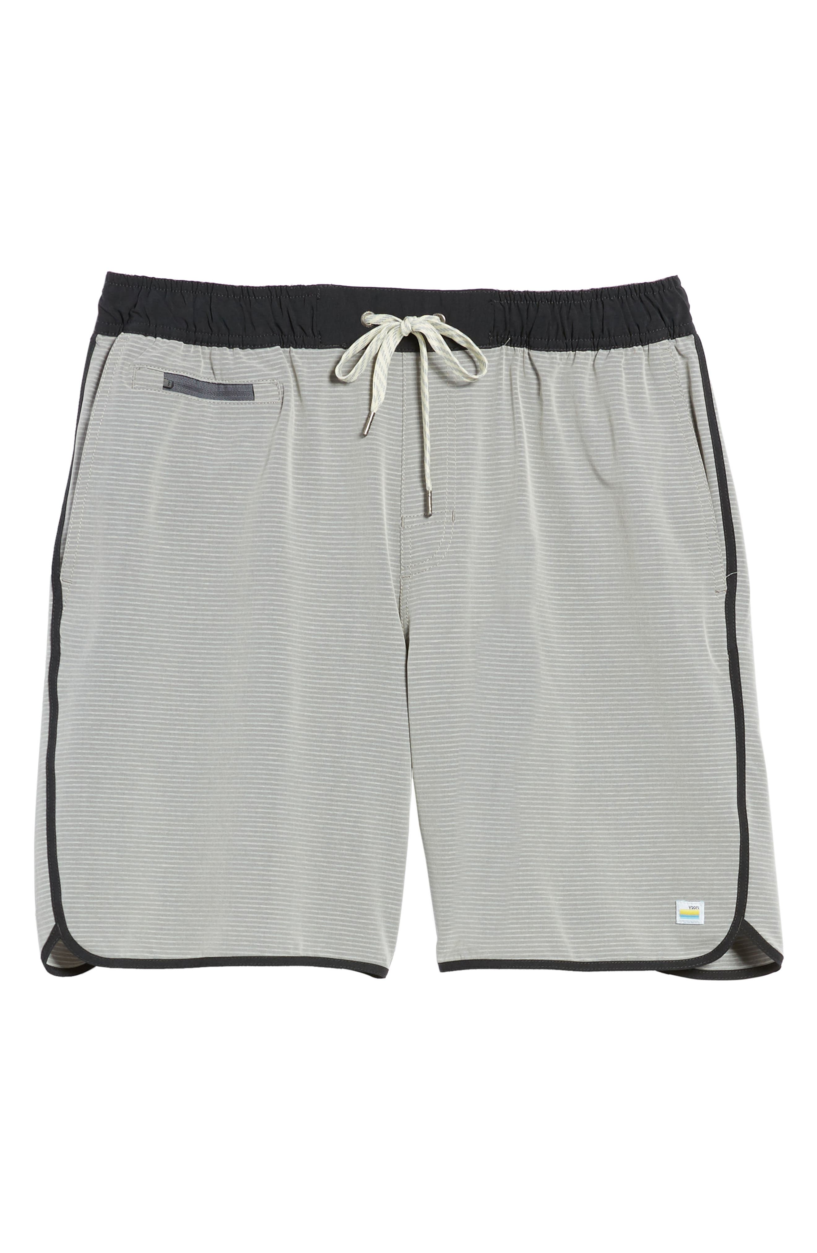 Banks Athletic Shorts,                             Alternate thumbnail 6, color,                             Light Grey Engineered Stripe