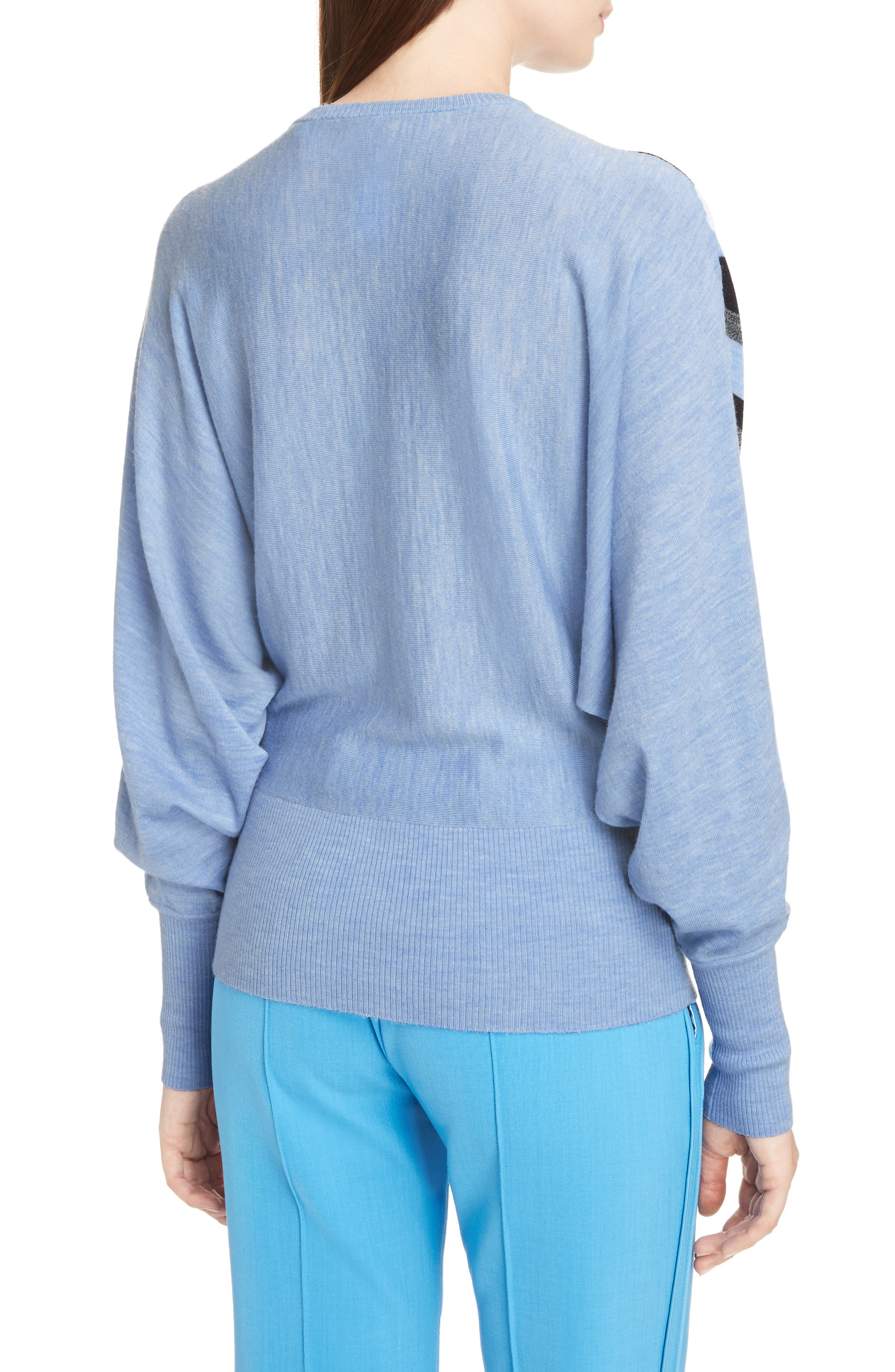 Alternate Image 3  - Victoria, Victoria Beckham Stripe Wool Dolman Sweater