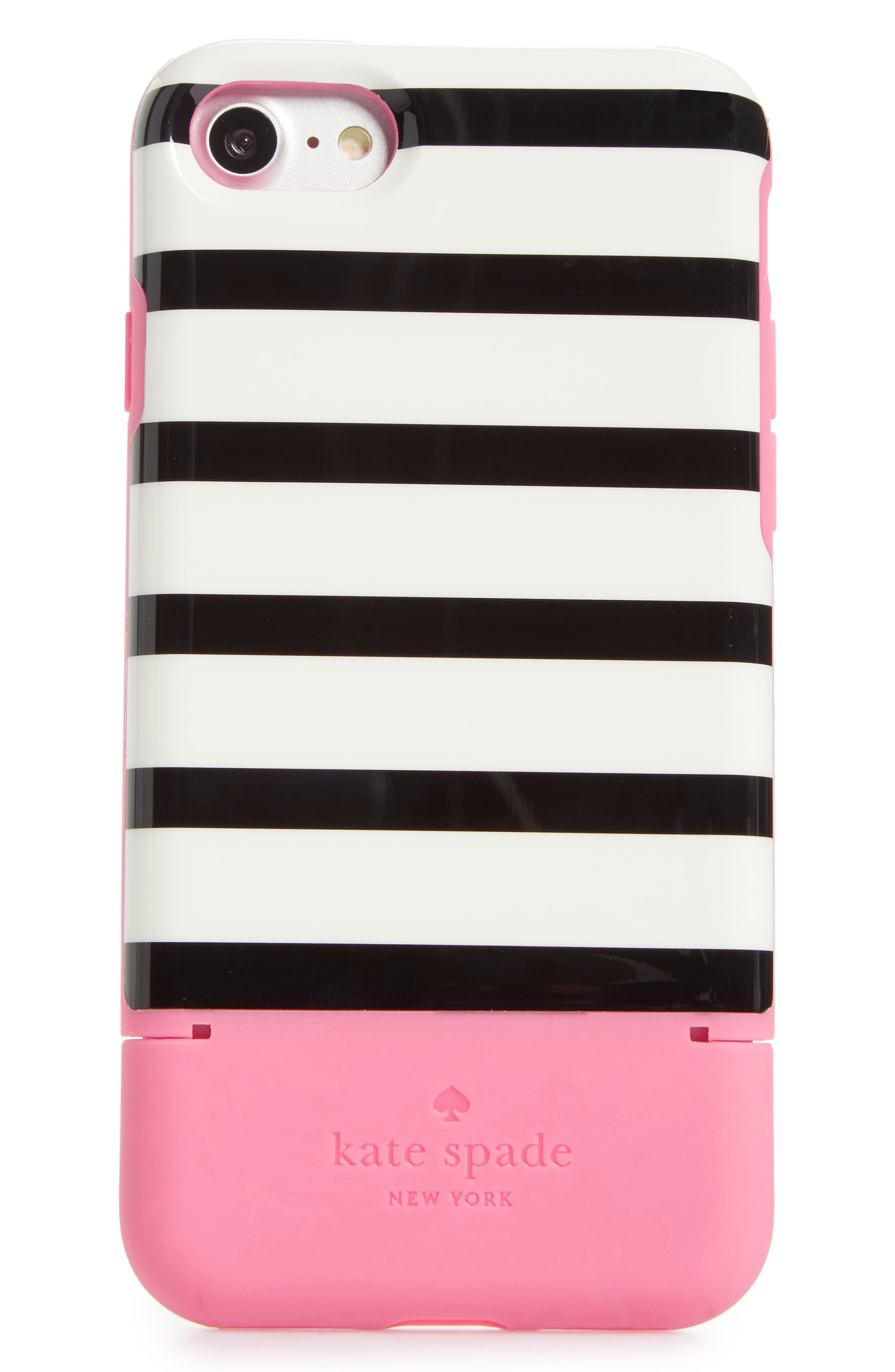 Main Image - kate spade new york stripe credit card iPhone 7/8 & 7/8 Plus case