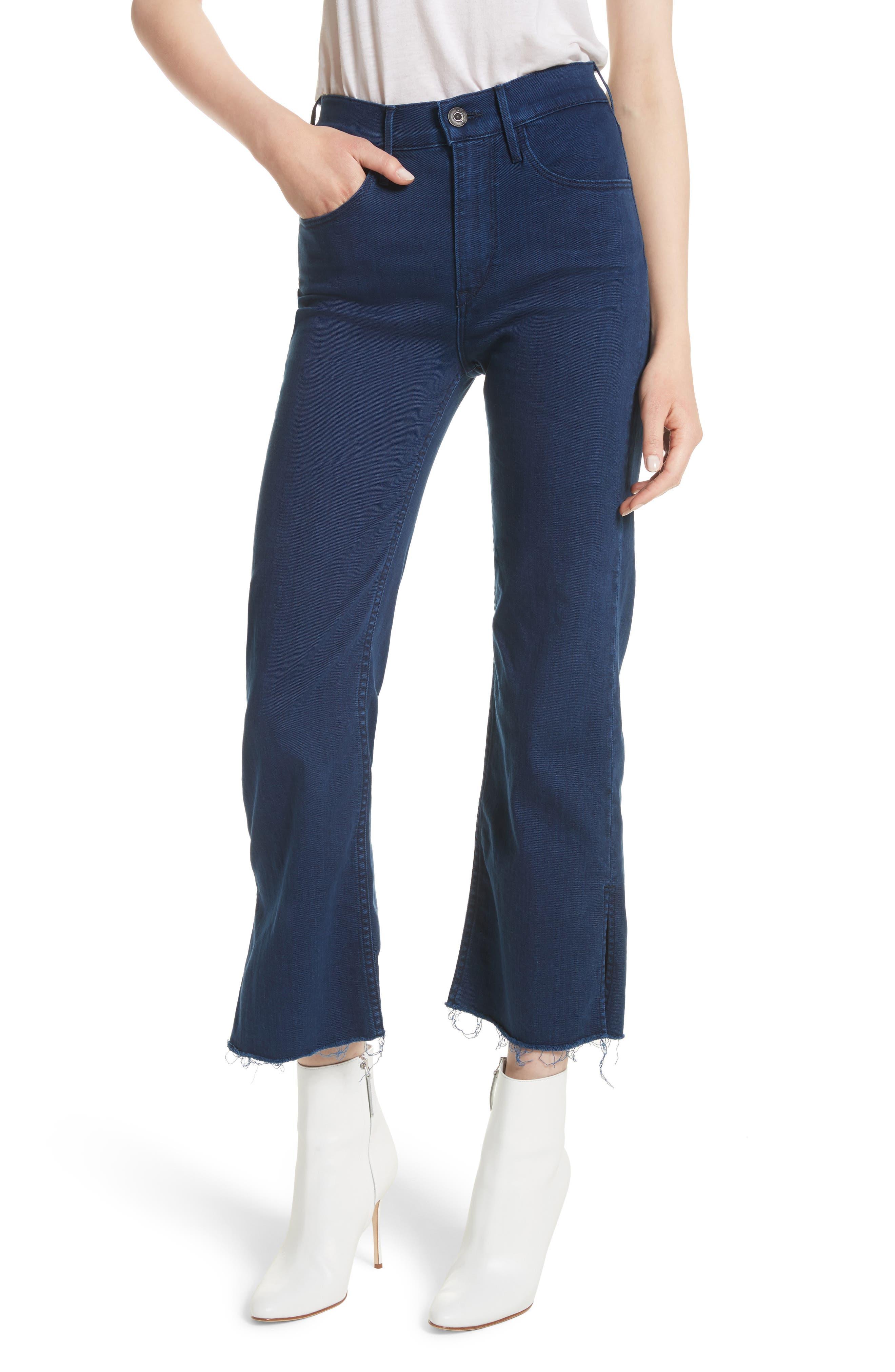 W4 Shelter Crop Wide Leg Jeans,                             Main thumbnail 1, color,                             Arrow