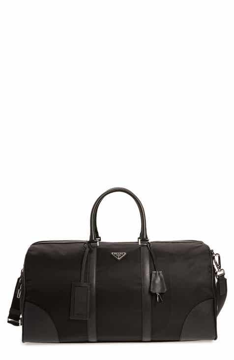 Prada Nylon   Saffiano Leather Bowling Bag eea8da247555d