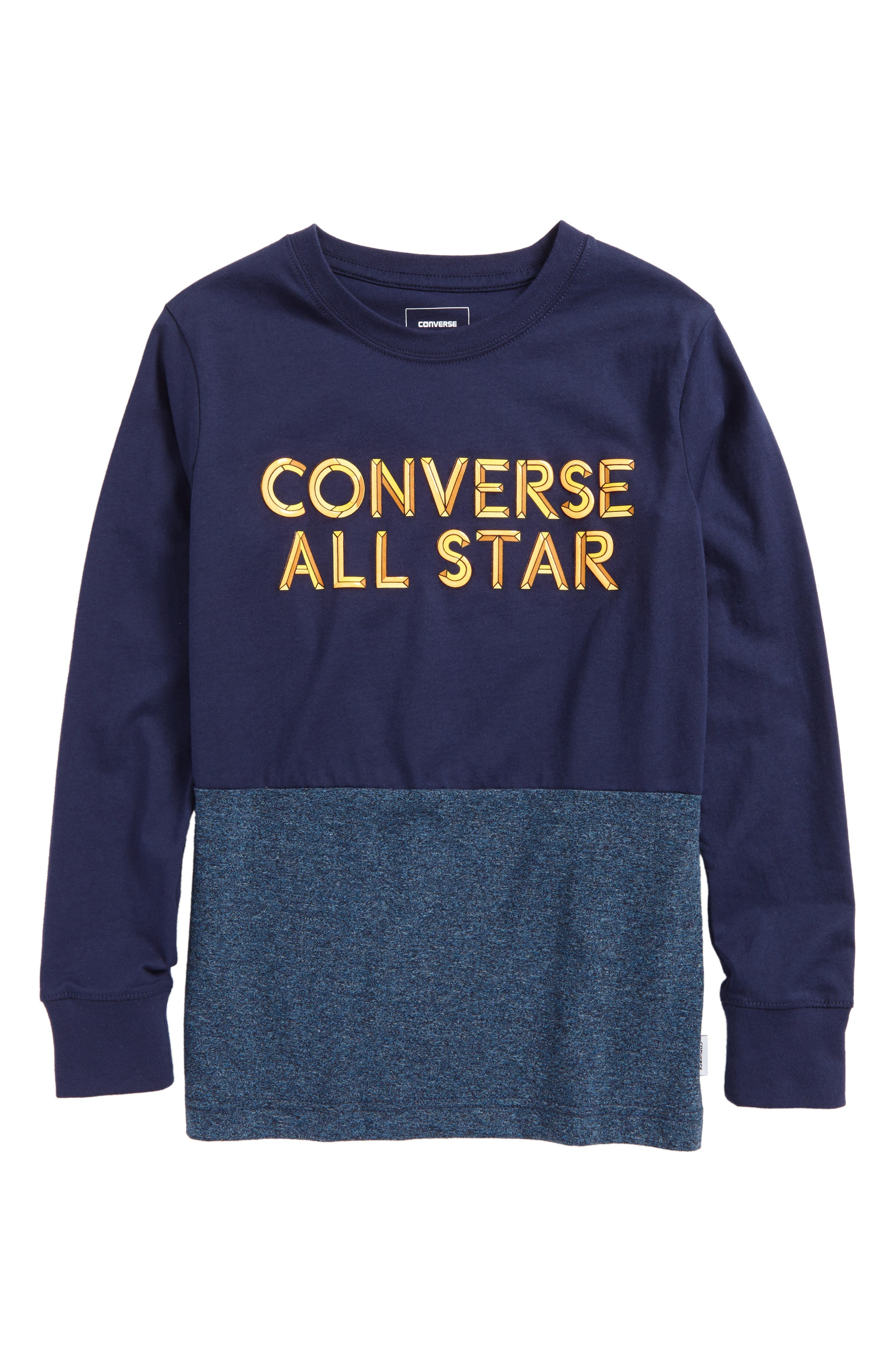 Static Heather Graphic T-Shirt,                         Main,                         color, Midnight Navy