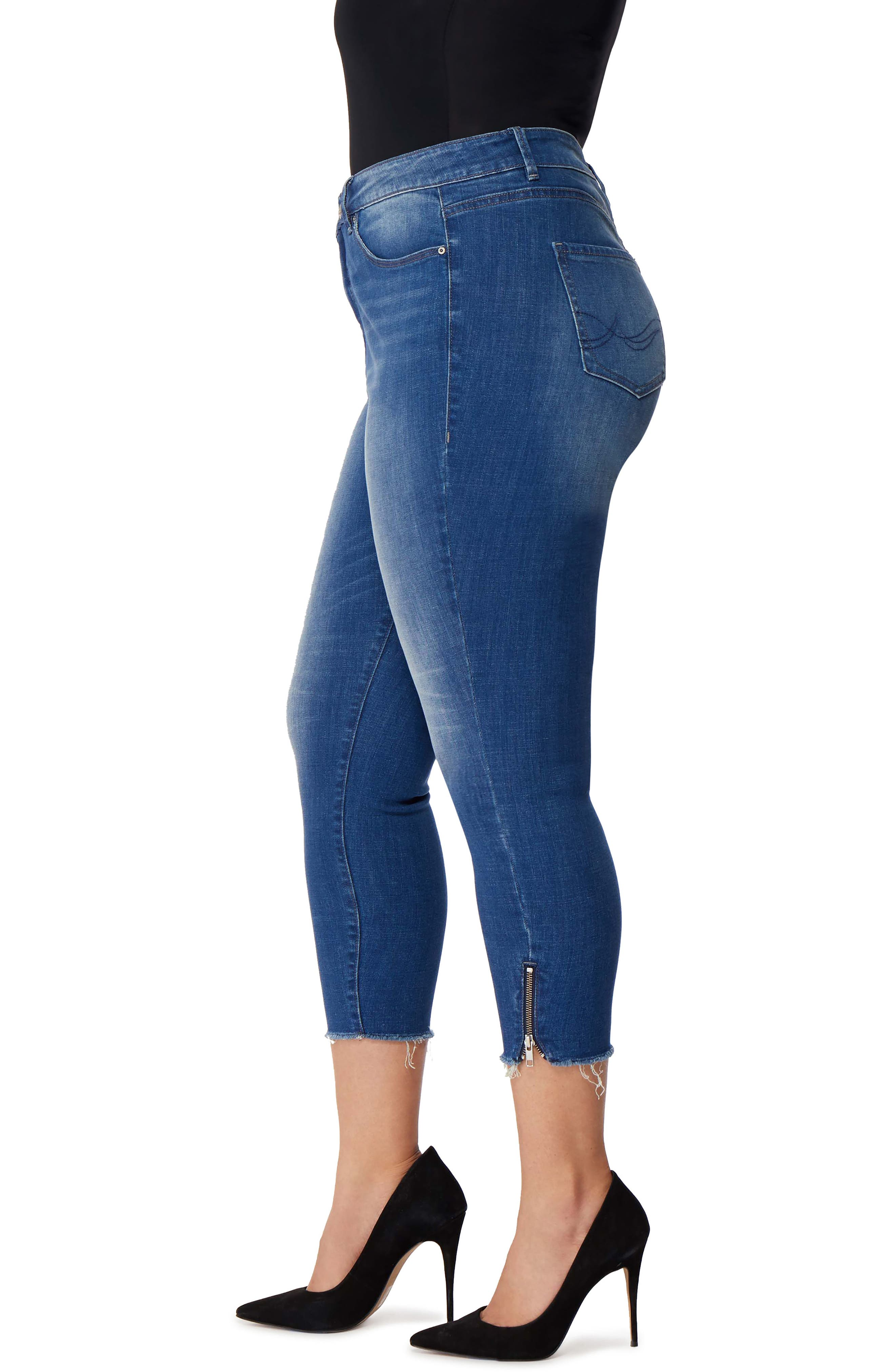 Icon Crop High Waist Skinny Jeans,                             Alternate thumbnail 3, color,                             Laurel