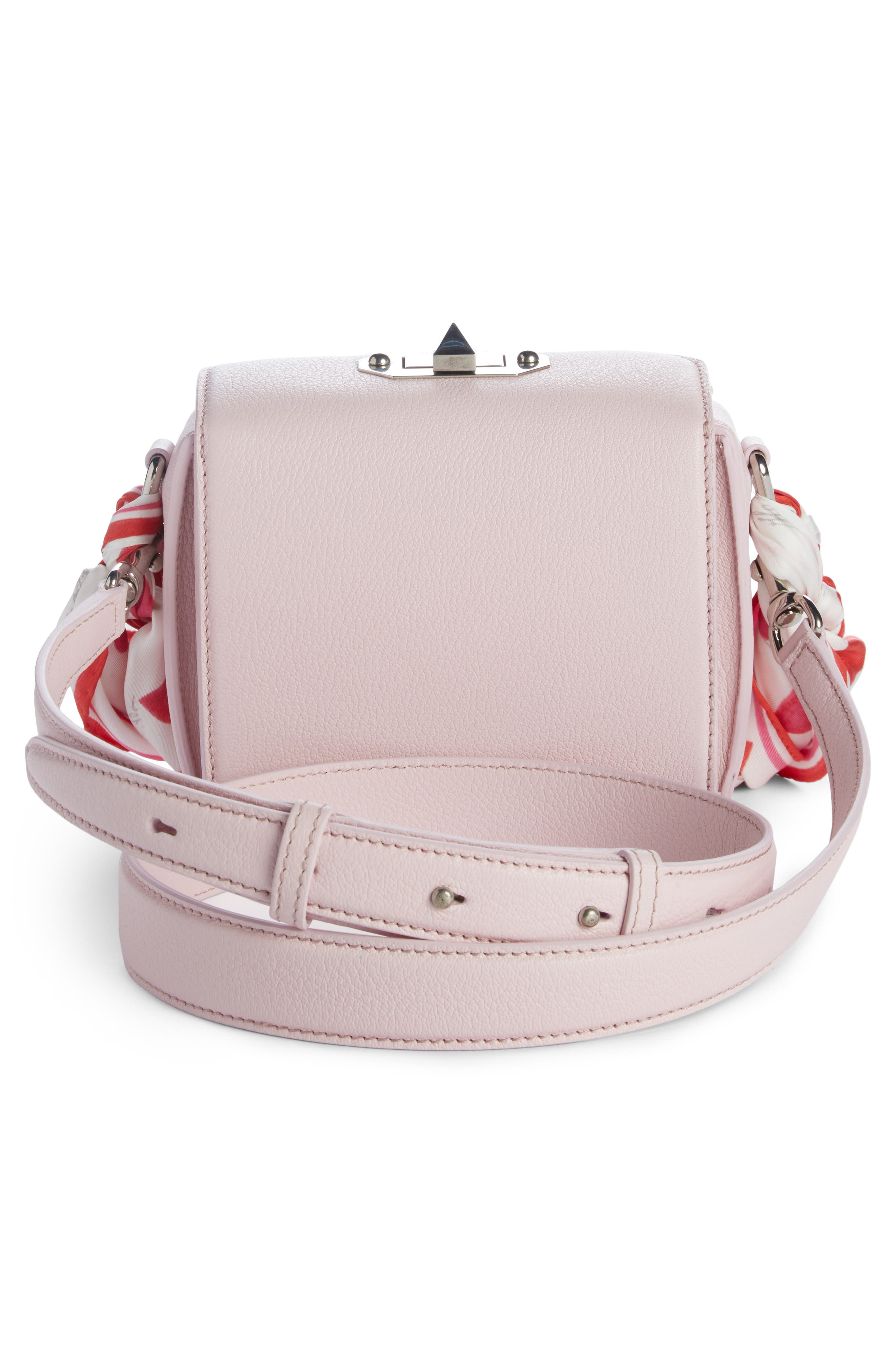Box Bag 16 Leather Bag,                             Alternate thumbnail 3, color,                             Baby Pink/ Ivory