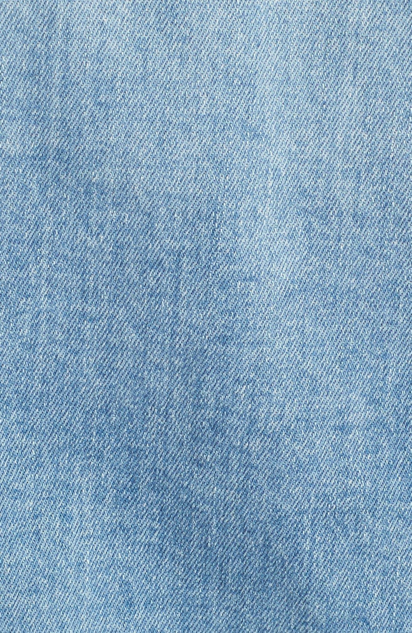 Mya Denim Jacket,                             Alternate thumbnail 5, color,                             Sunlight Blue
