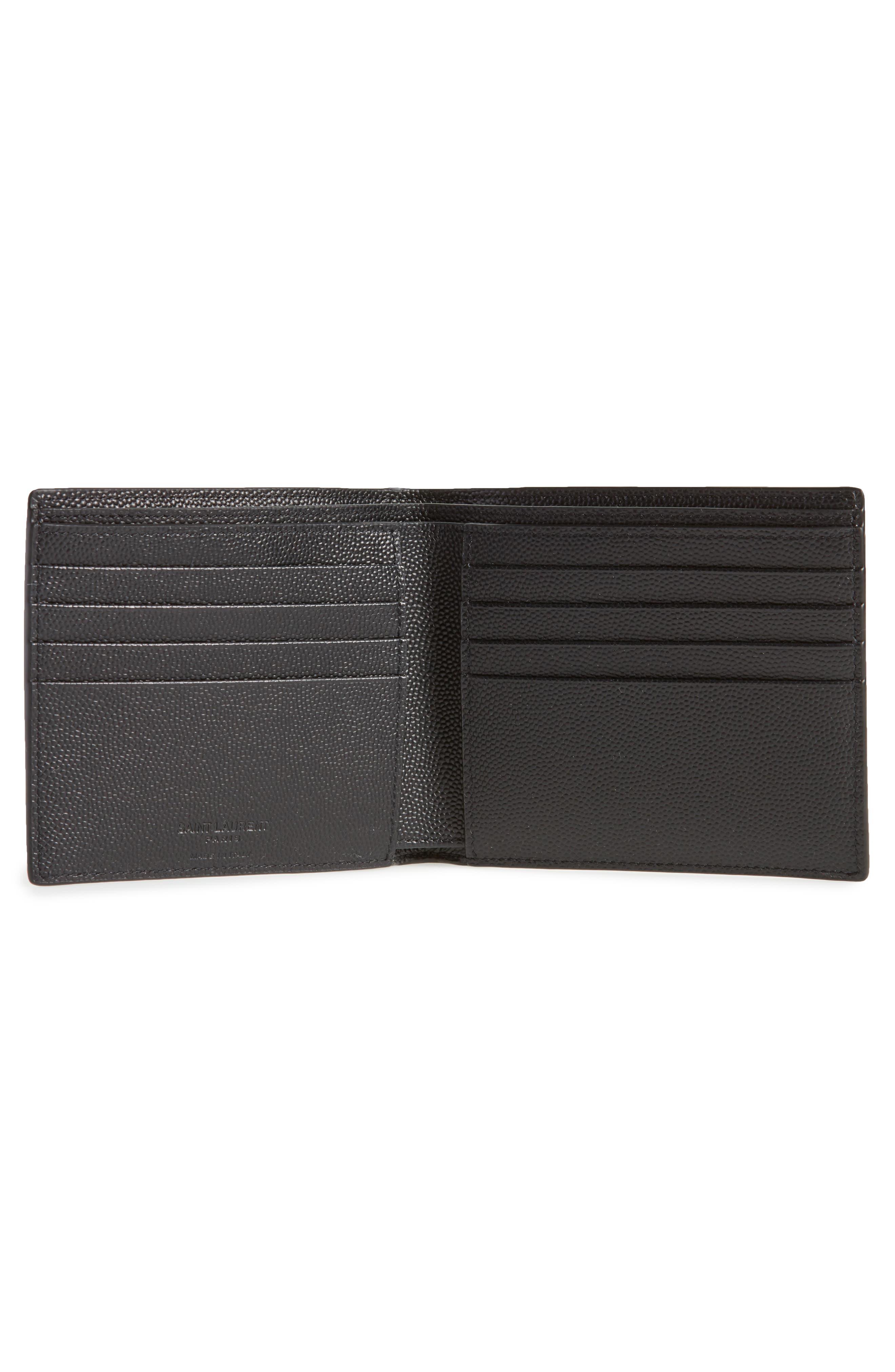 Pebble Grain Leather Wallet,                             Alternate thumbnail 2, color,                             Nero