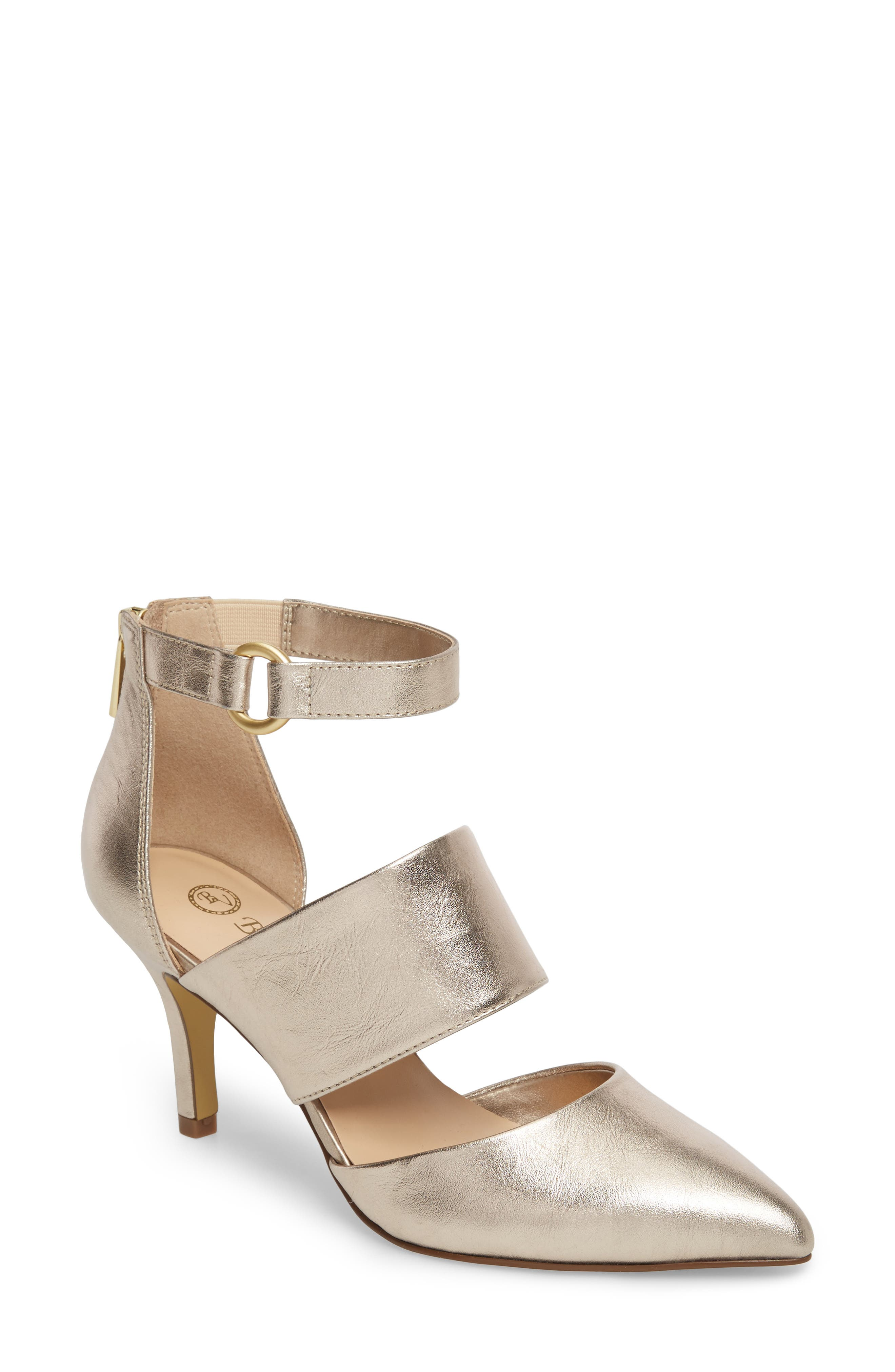 Diana Pump,                         Main,                         color, Champagne Leather