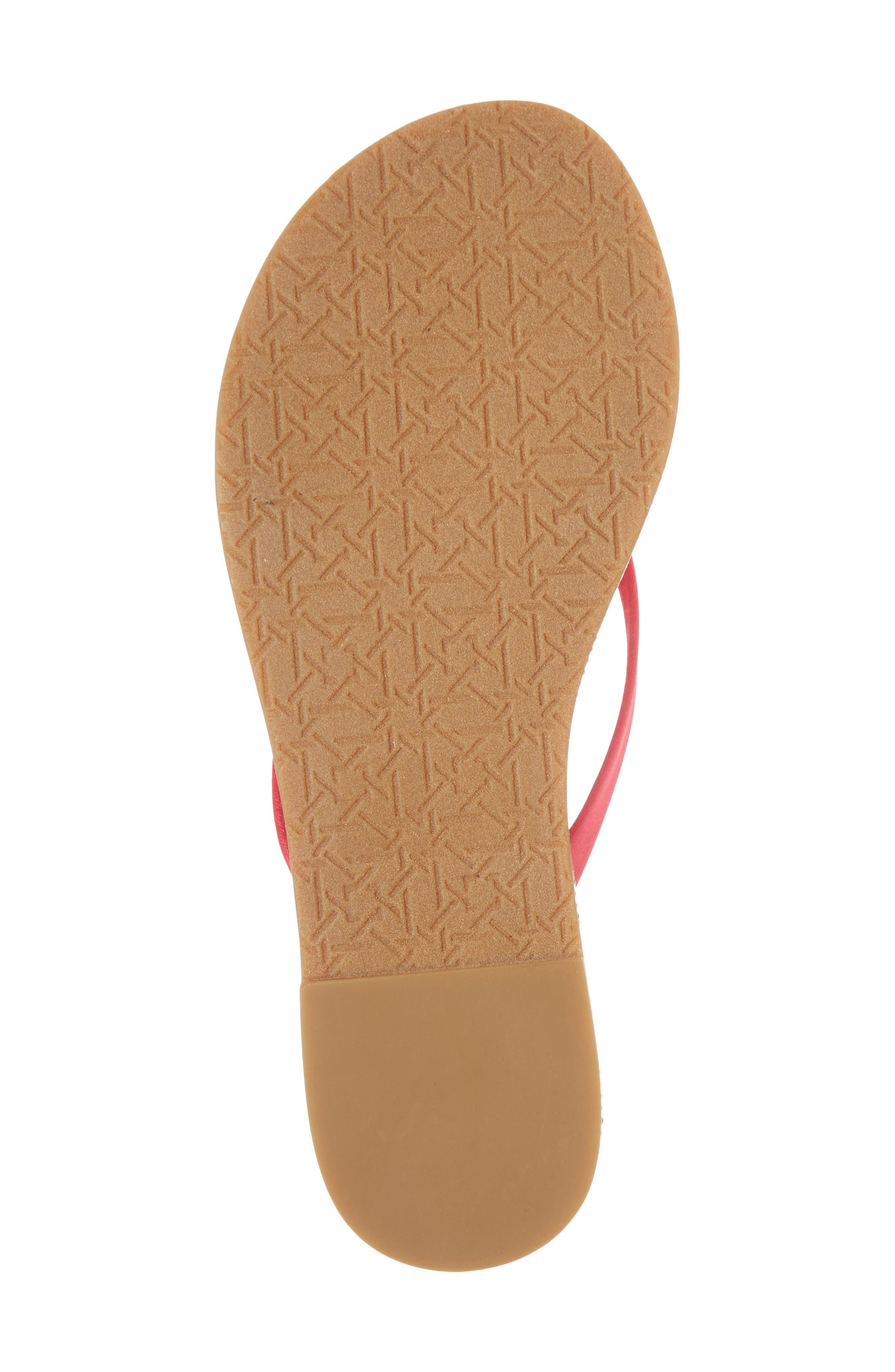 Thalia Crystal Embellished Flip Flop,                             Alternate thumbnail 6, color,                             Pink Leather