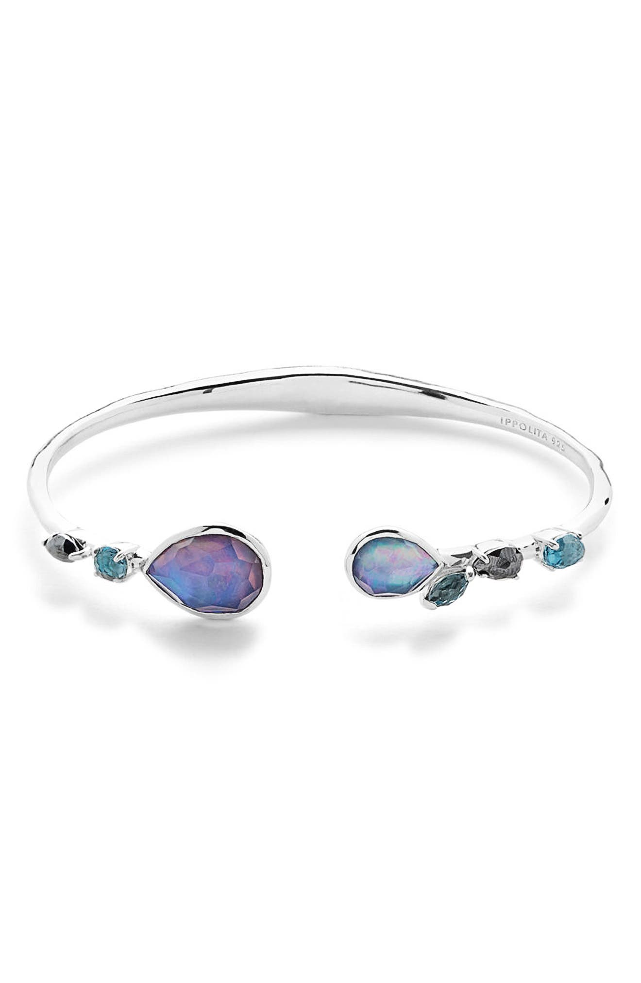 Rock Candy Skinny Cuff,                             Main thumbnail 1, color,                             Eclipse