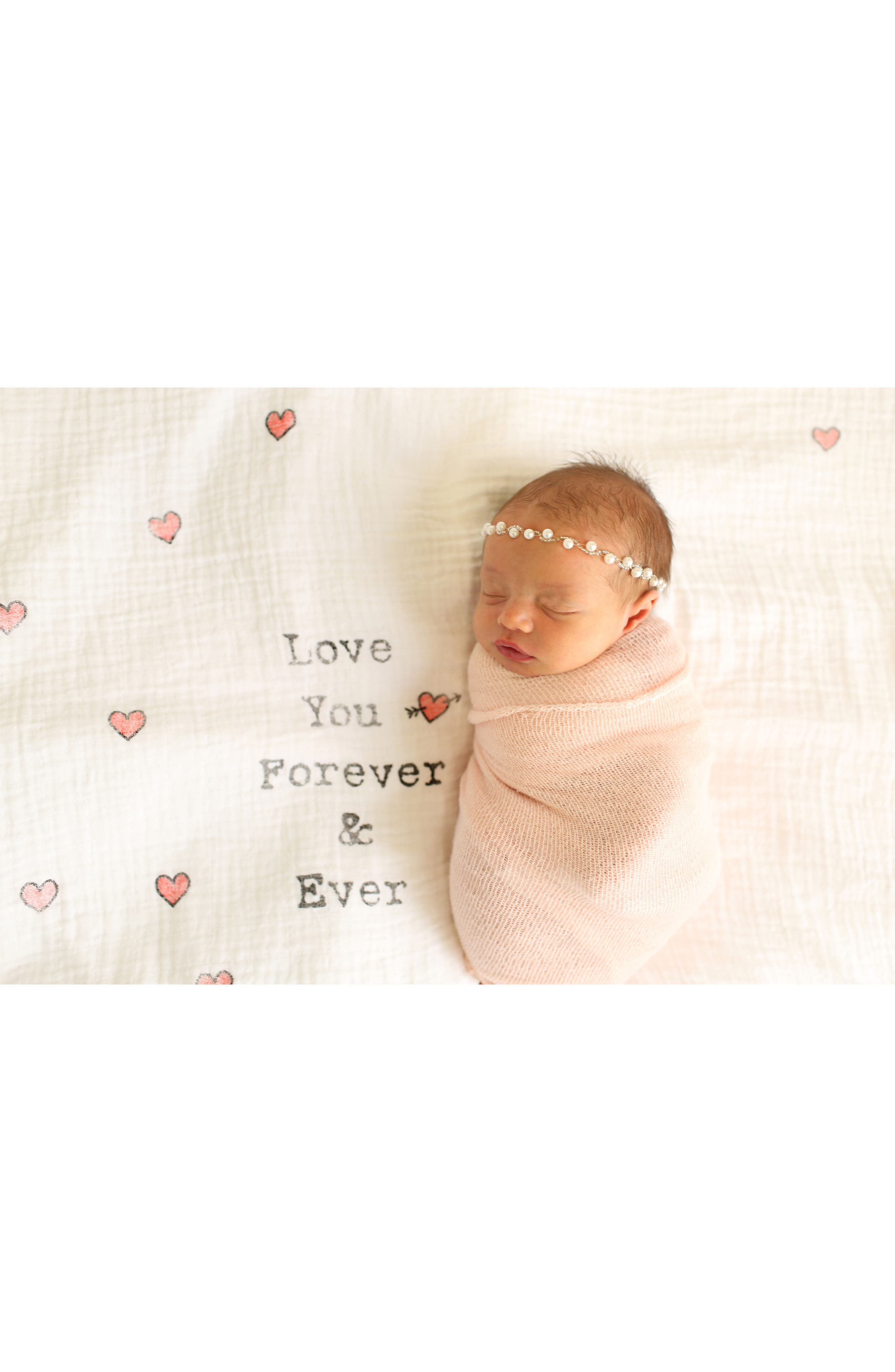 Love You Forever Swaddle Scarf,                             Alternate thumbnail 2, color,                             White/ Red