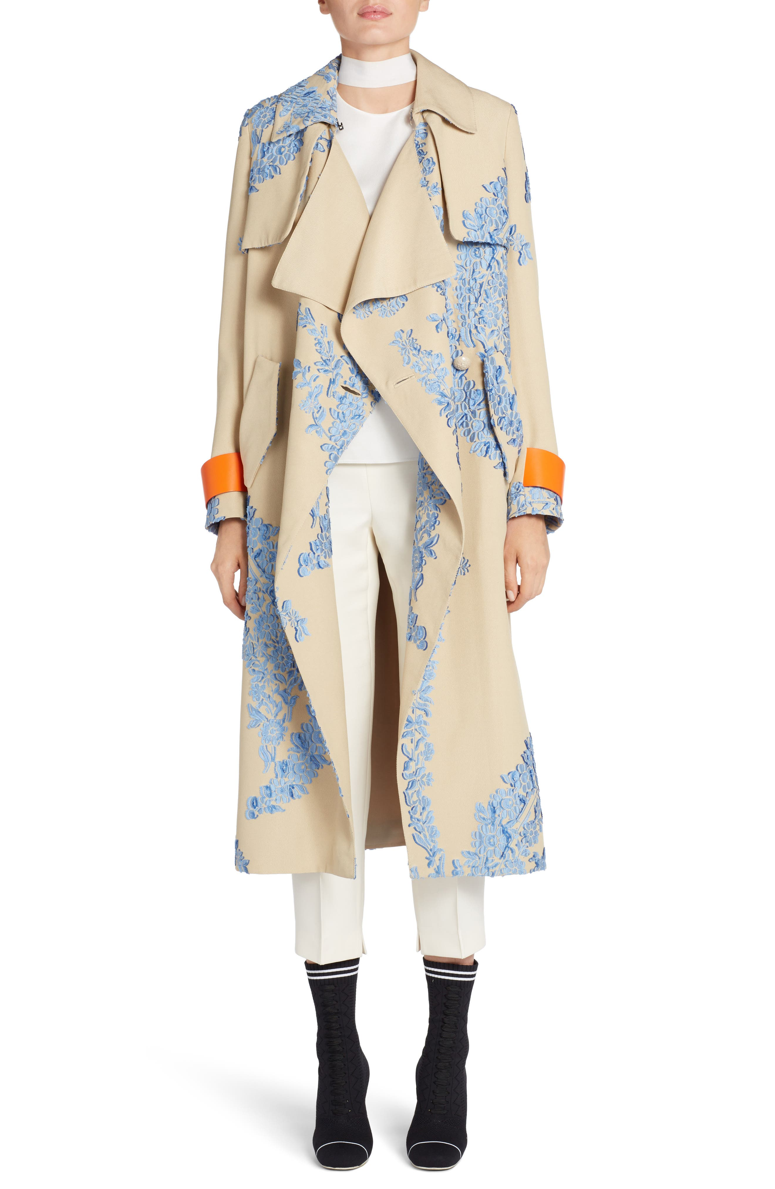 Fil Coupe Trench Coat,                             Main thumbnail 1, color,                             Faith Blue