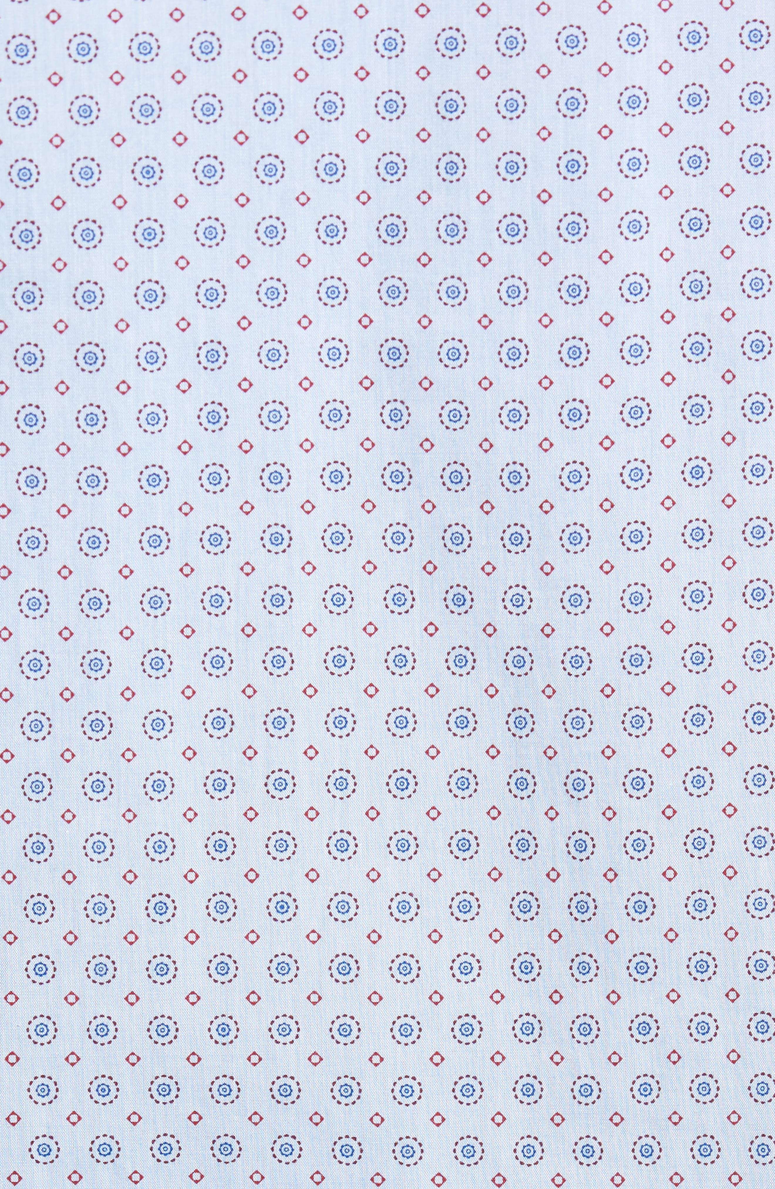 Trim Fit Print Sport Shirt,                             Alternate thumbnail 5, color,                             Blue Chambray Medallion