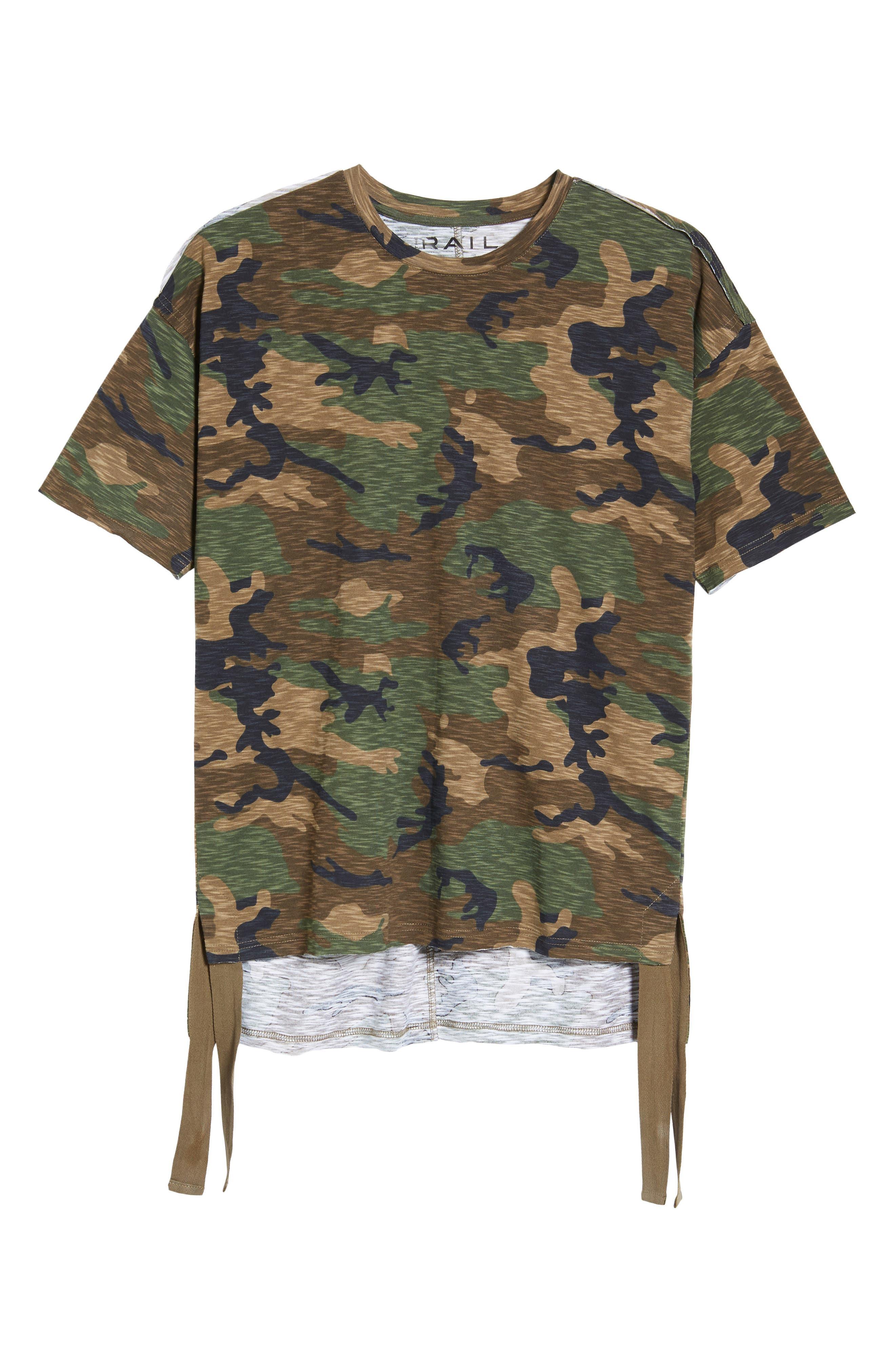Camo Strapped T-Shirt,                             Alternate thumbnail 6, color,                             Brown Bear Tan Camo