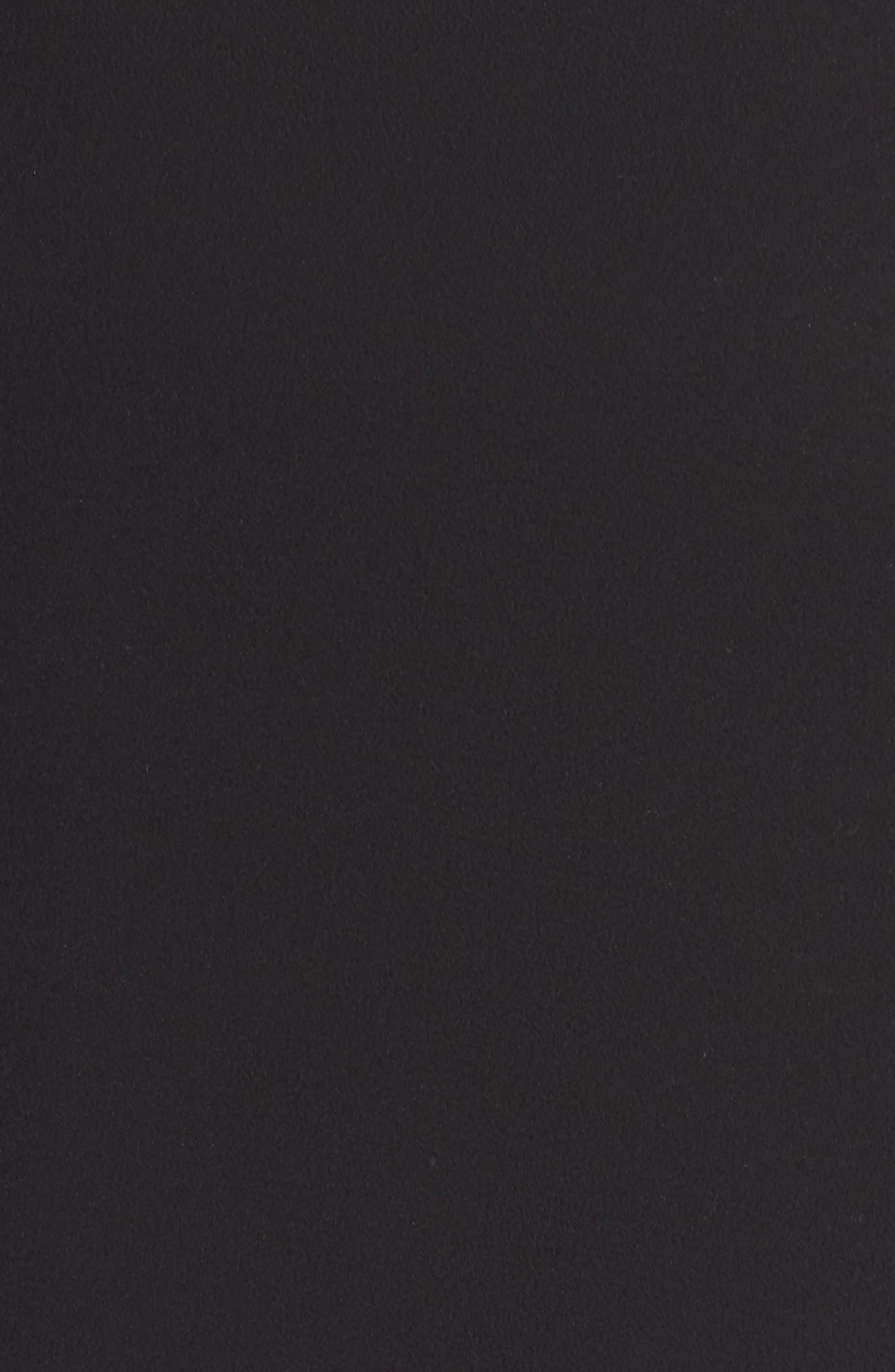 Bell Sleeve Ruffle Hem Blouse,                             Alternate thumbnail 5, color,                             Black