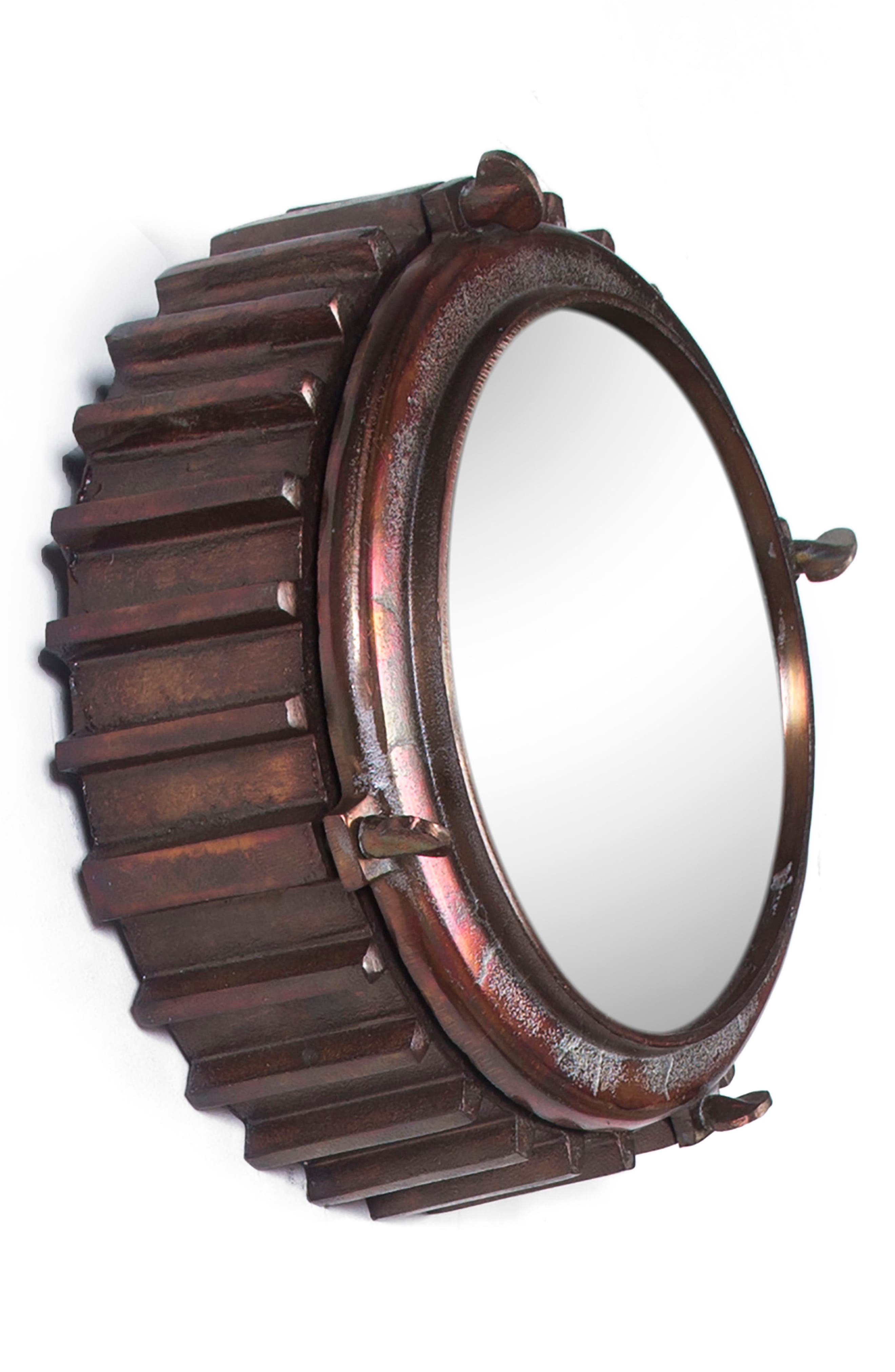 Neston Mirror,                             Alternate thumbnail 3, color,                             Copper/ Cobalt Blue/ Brass