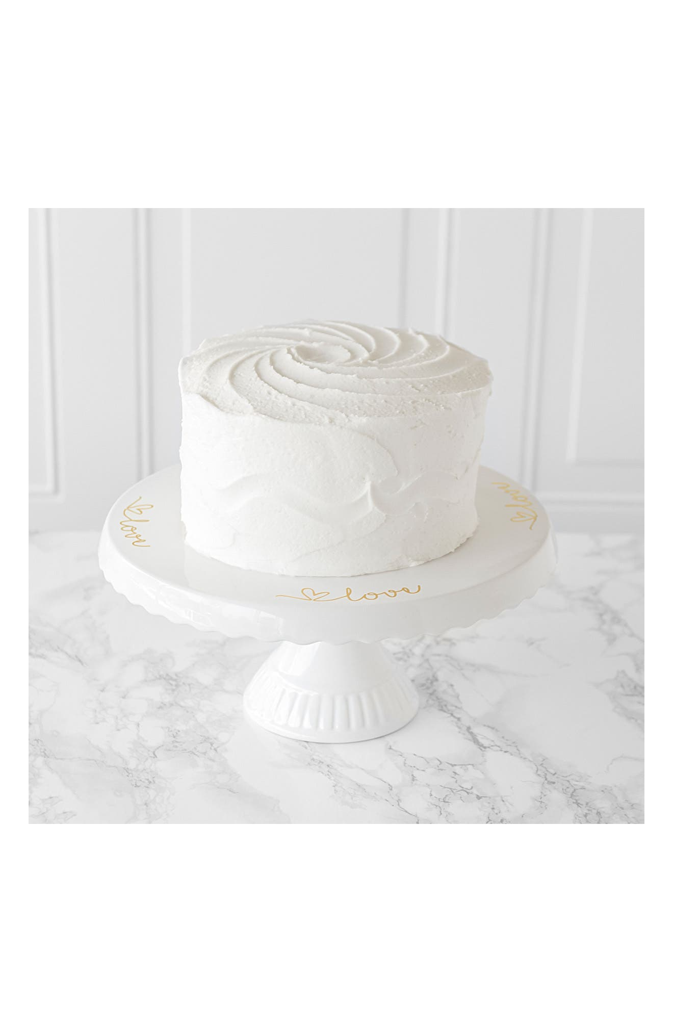 Love Cake Stand,                             Alternate thumbnail 2, color,                             Gold