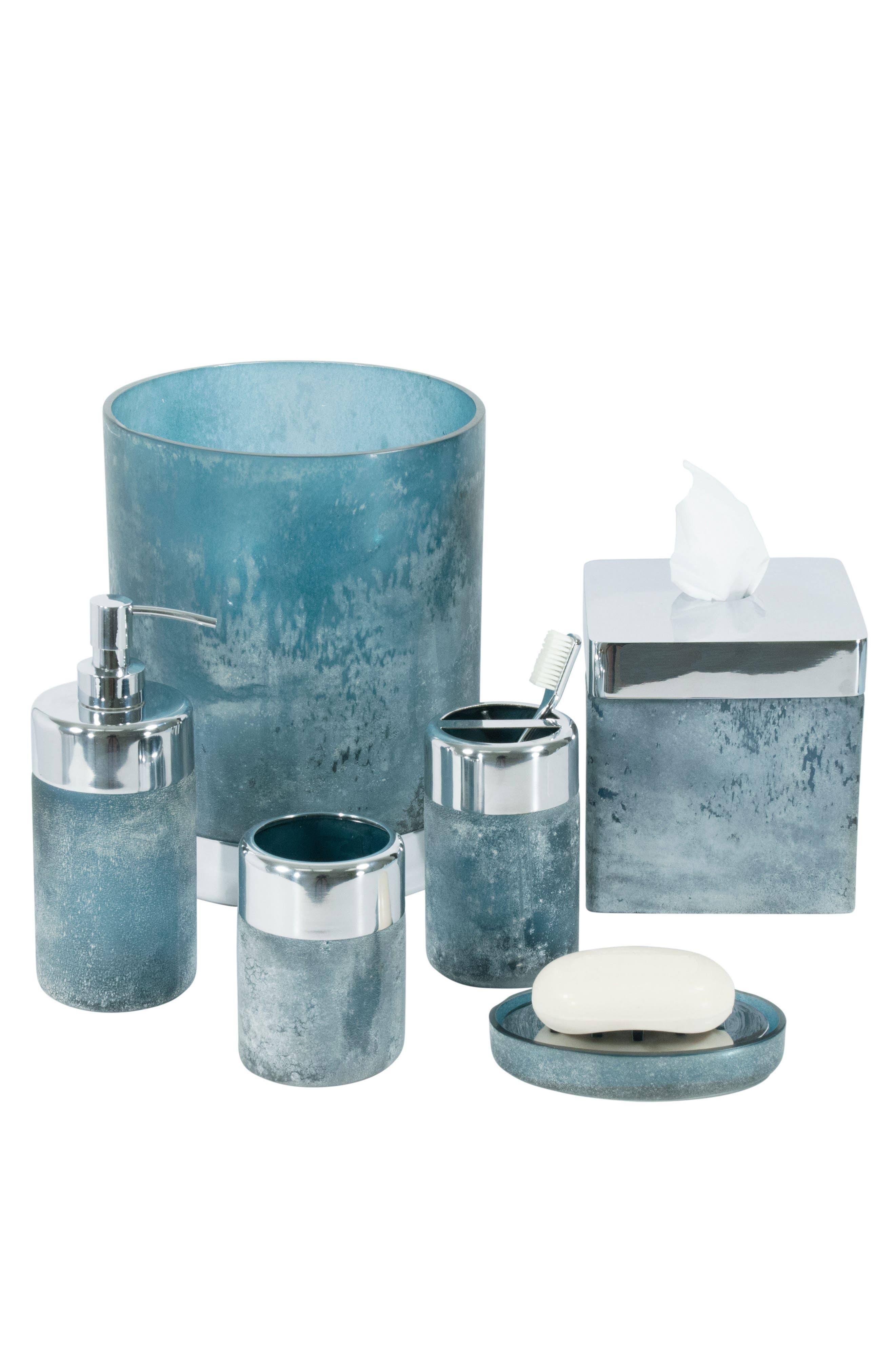 Ocean Reef Wastebasket,                             Alternate thumbnail 2, color,                             Blue