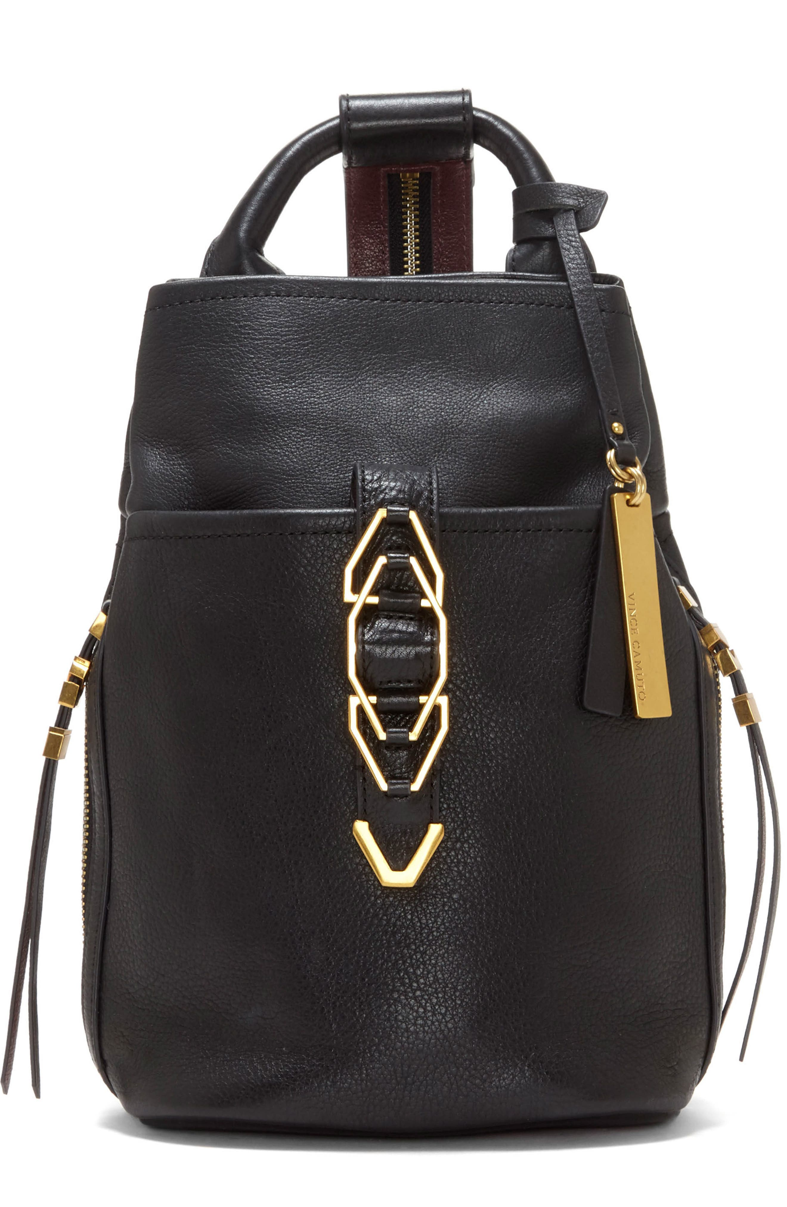 Main Image - Vince Camuto Small Luk Adjustable Leather Backpack