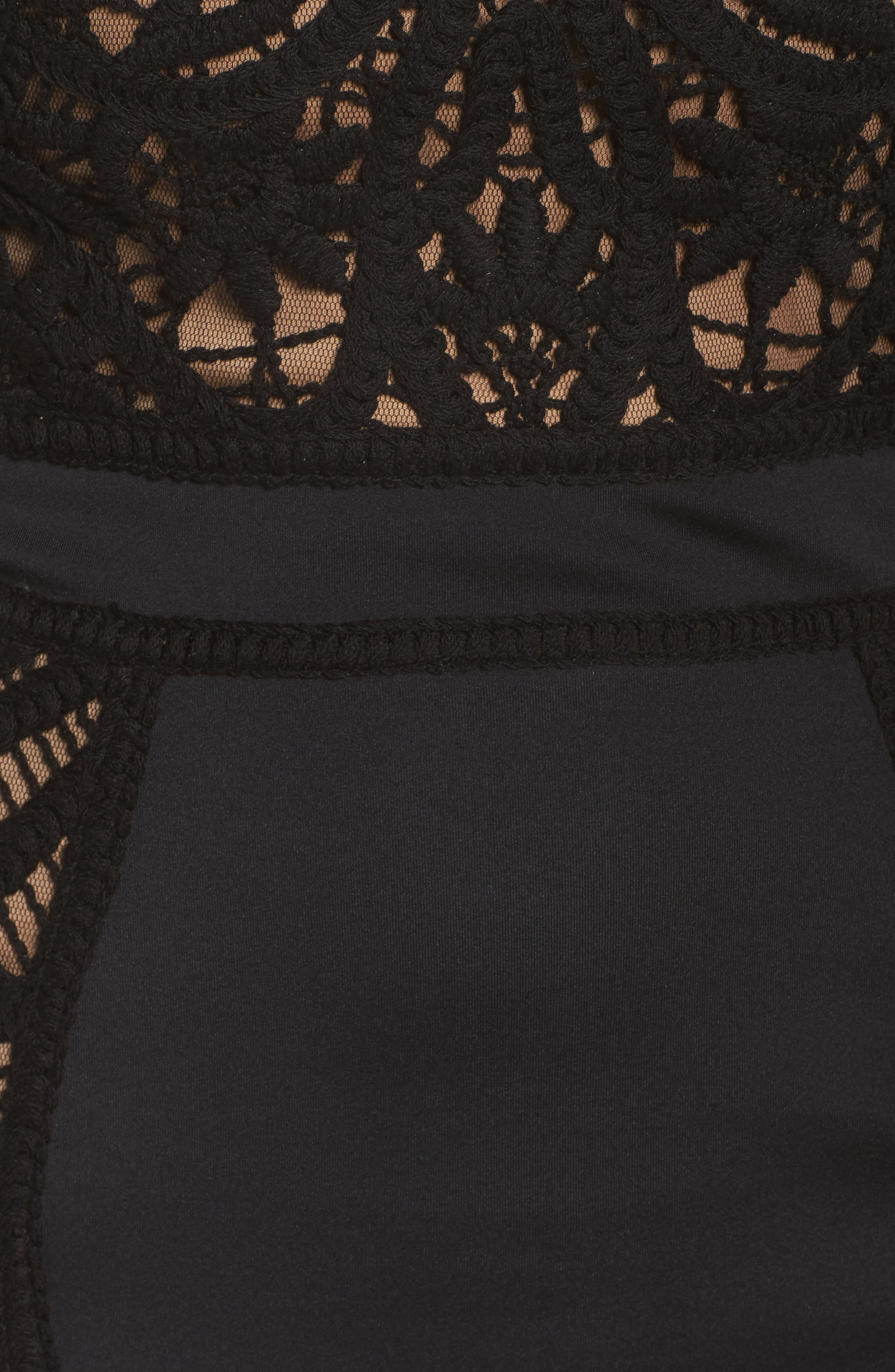 Alternate Image 5  - Tadashi Shoji Crochet & Neoprene Dress