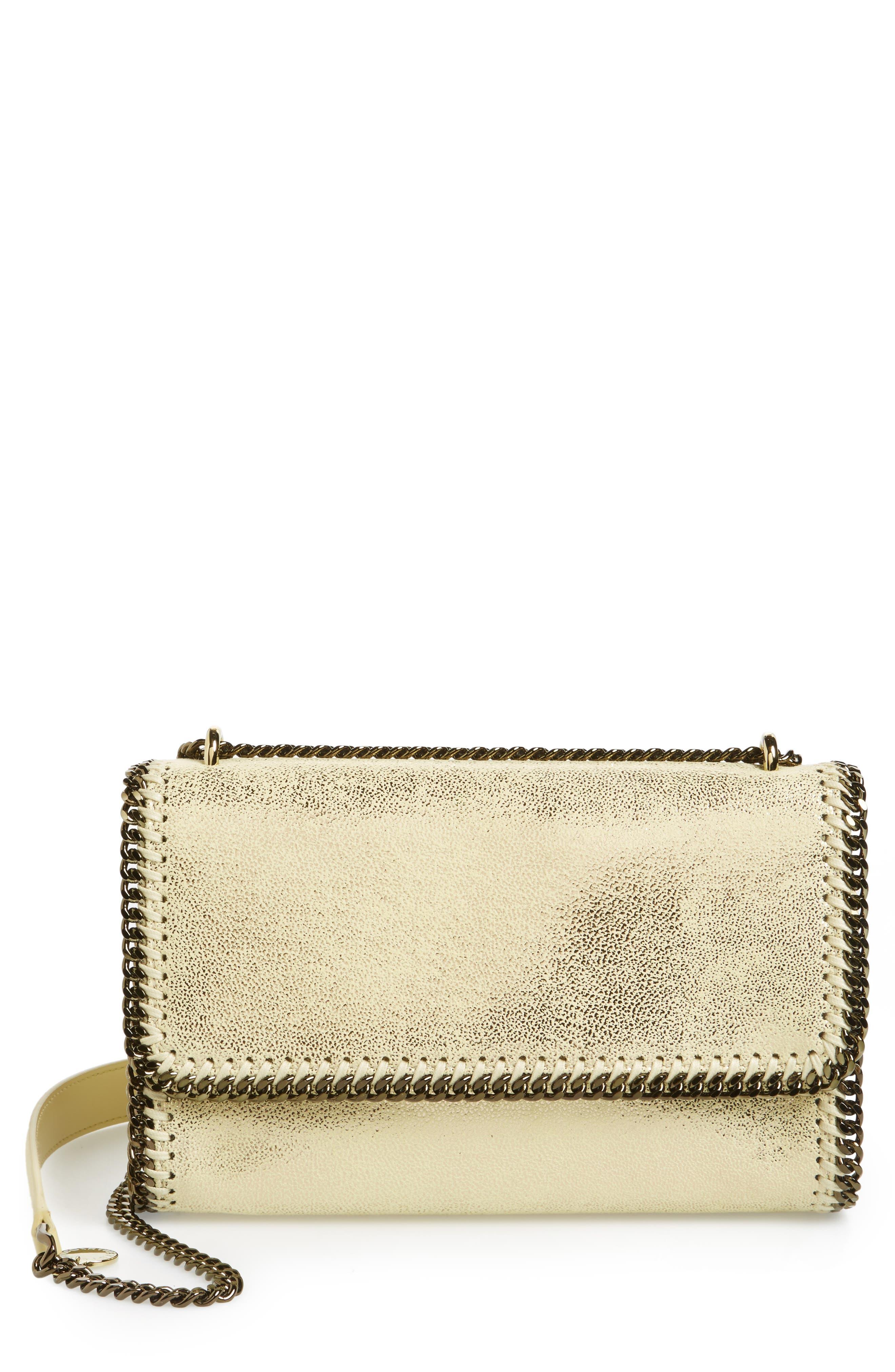 Stella McCartney Falabella Metallic Faux Leather Convertible Shoulder Bag