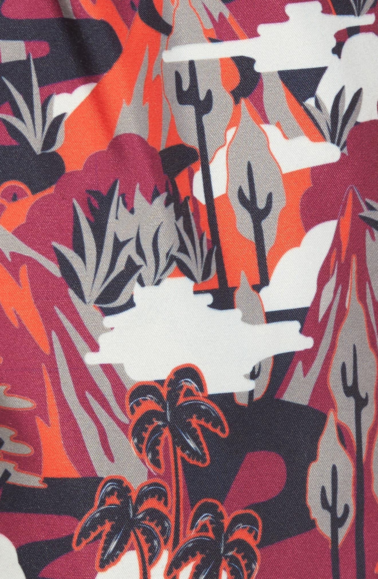 Karner Print Swim Trunks,                             Alternate thumbnail 5, color,                             Red