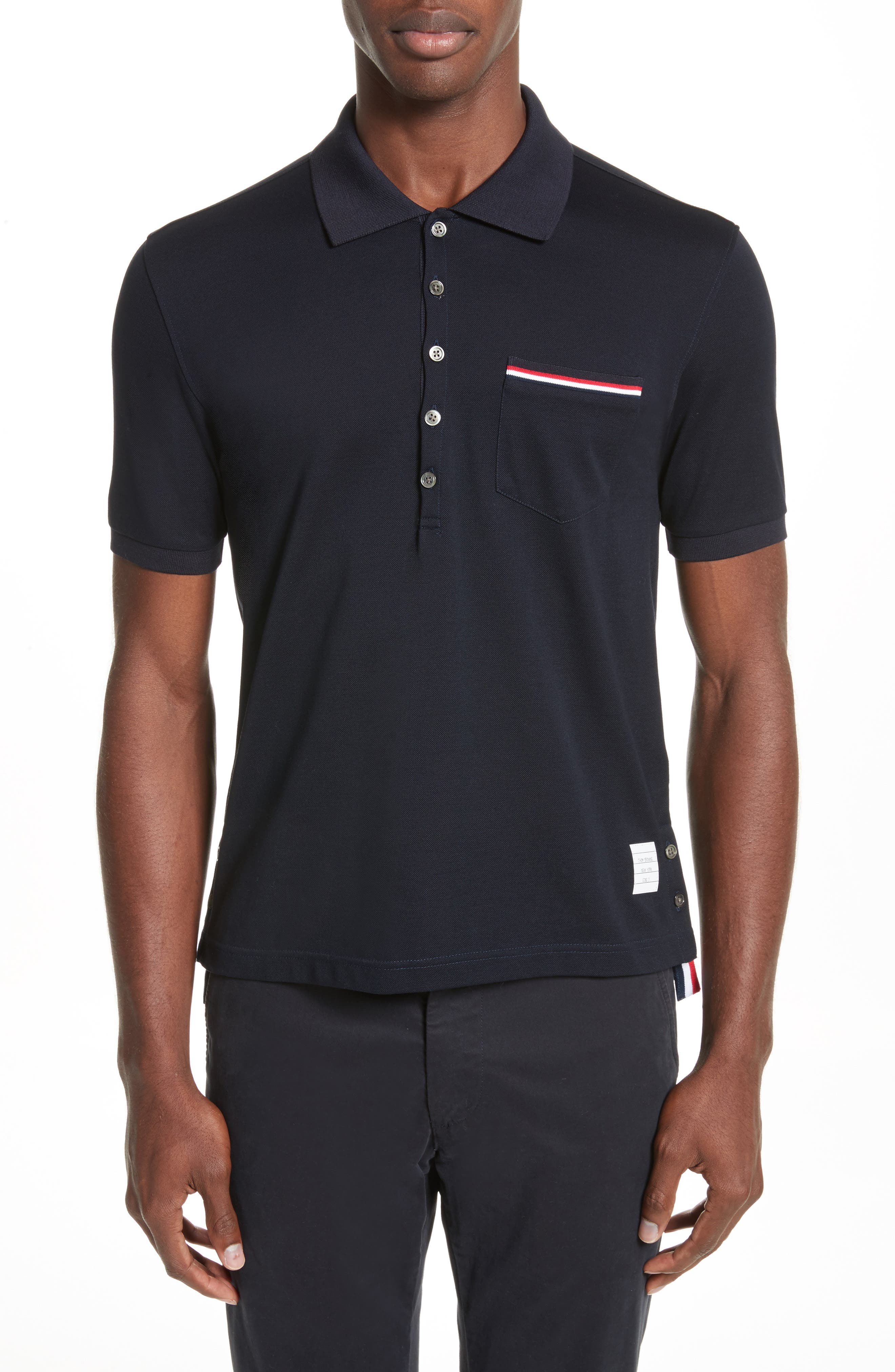 Alternate Image 1 Selected - Thom Browne Pocket Polo