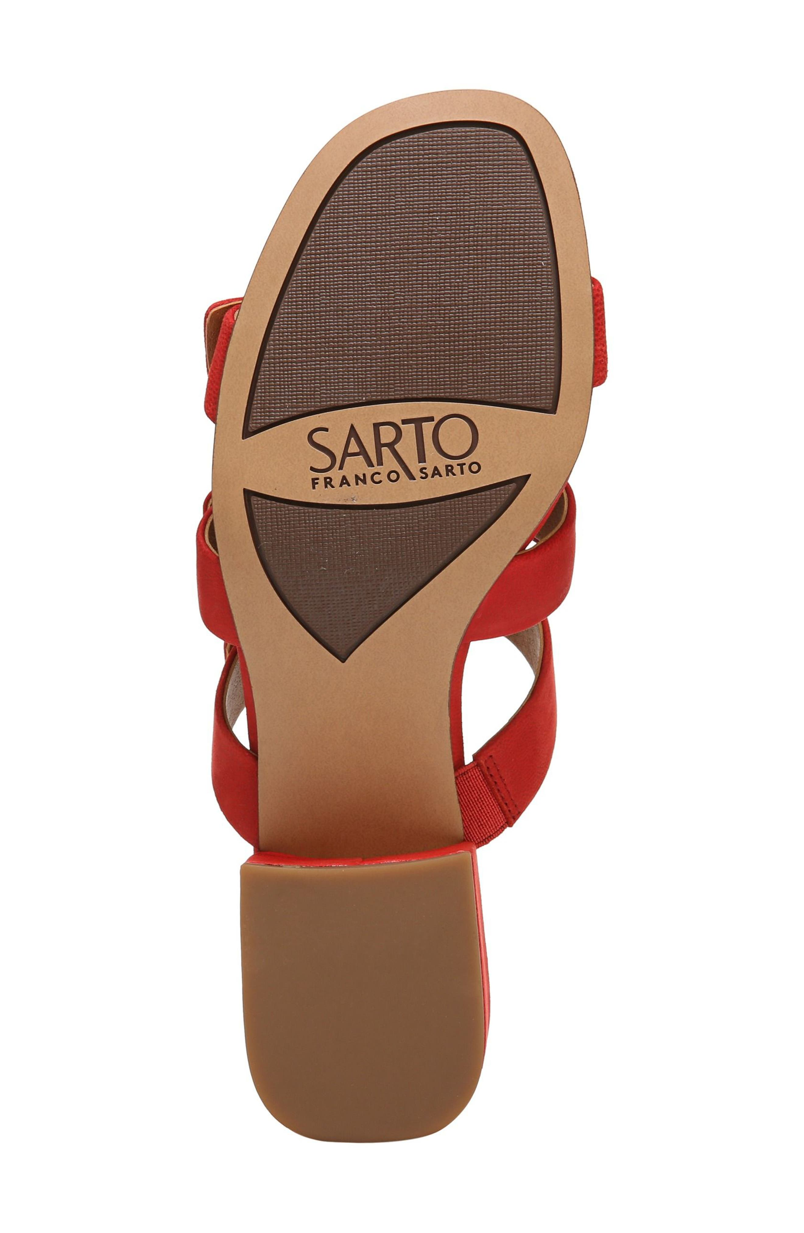 Arabesque Strappy Slide Sandal,                             Alternate thumbnail 6, color,                             Pop Red Nubuck