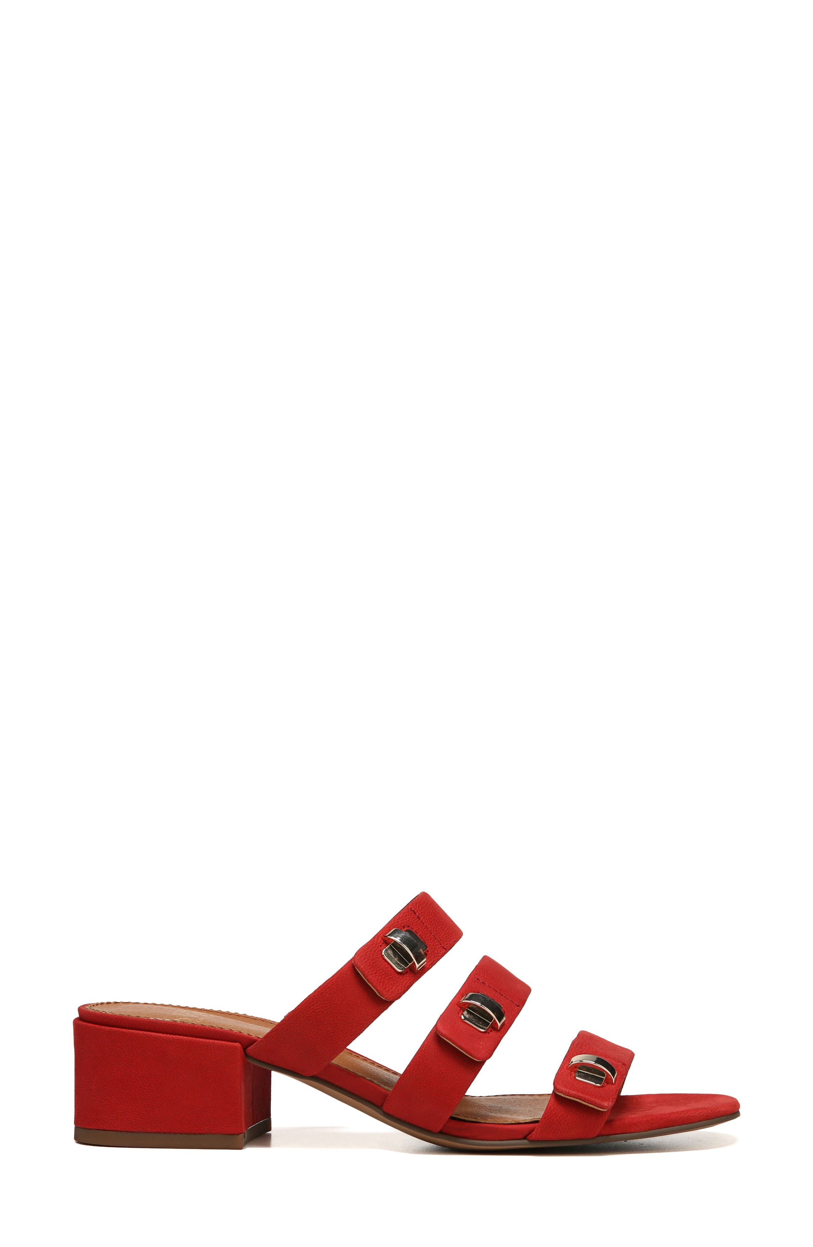 Arabesque Strappy Slide Sandal,                             Alternate thumbnail 3, color,                             Pop Red Nubuck