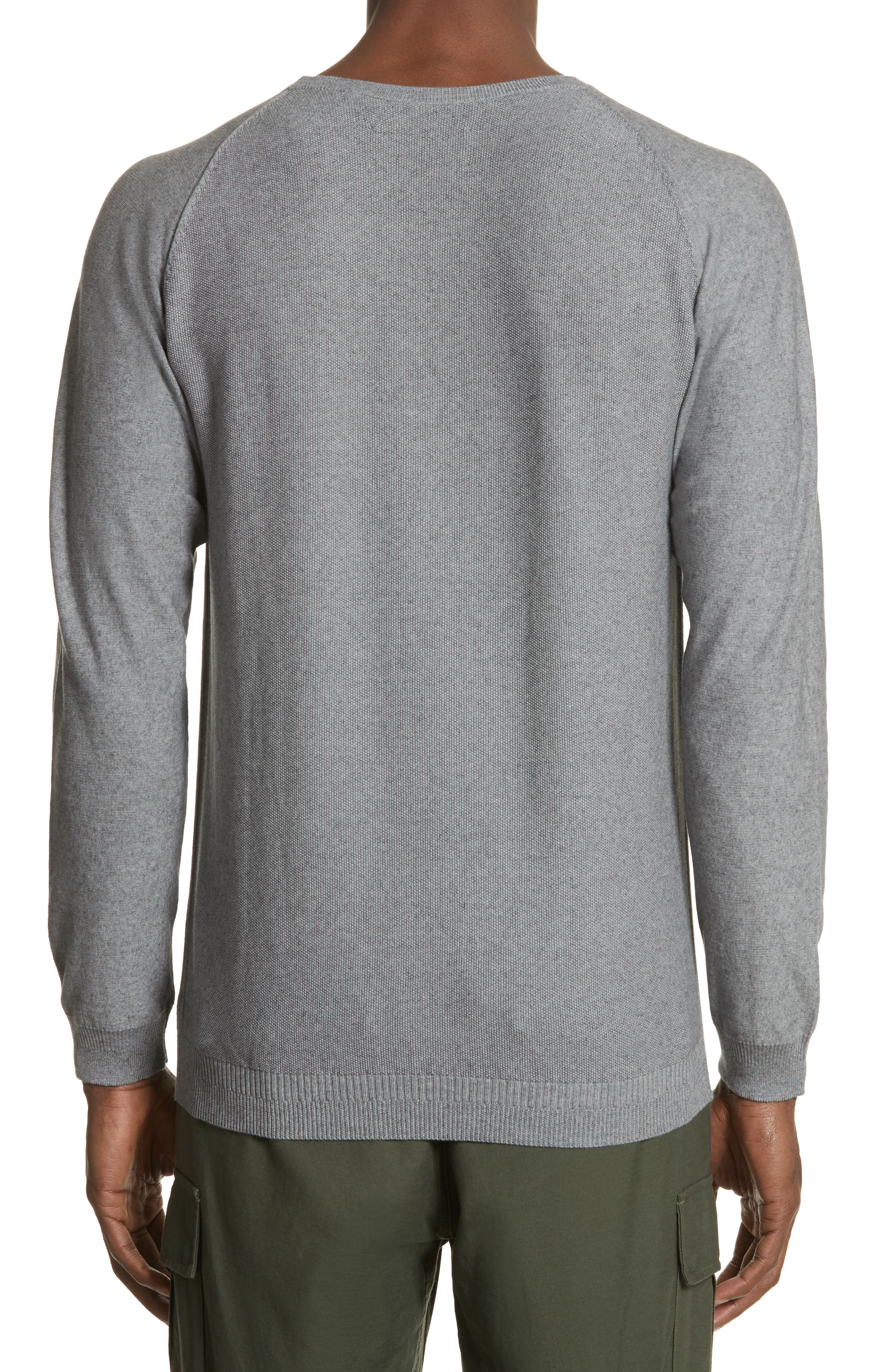 Cotton & Cashmere Sweater,                             Alternate thumbnail 2, color,                             Heather Grey