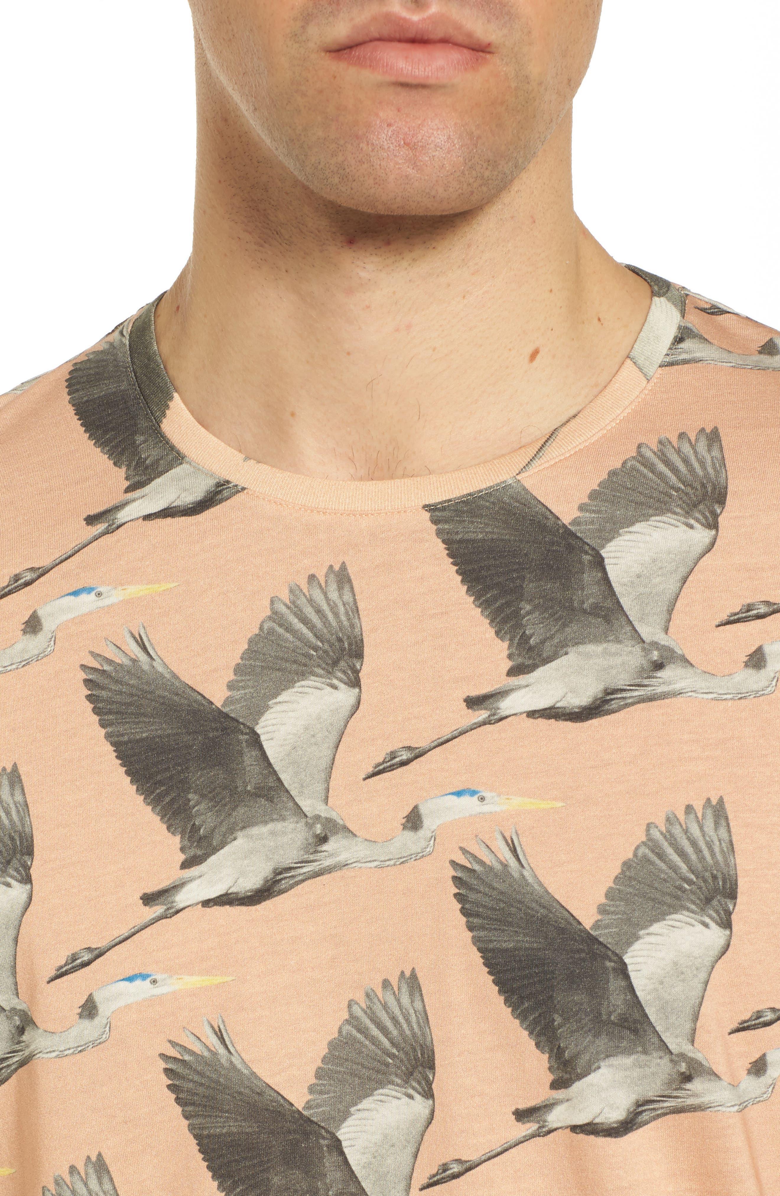 Alternate Image 4  - Ted Baker London Flute Blue Heron Print T-Shirt