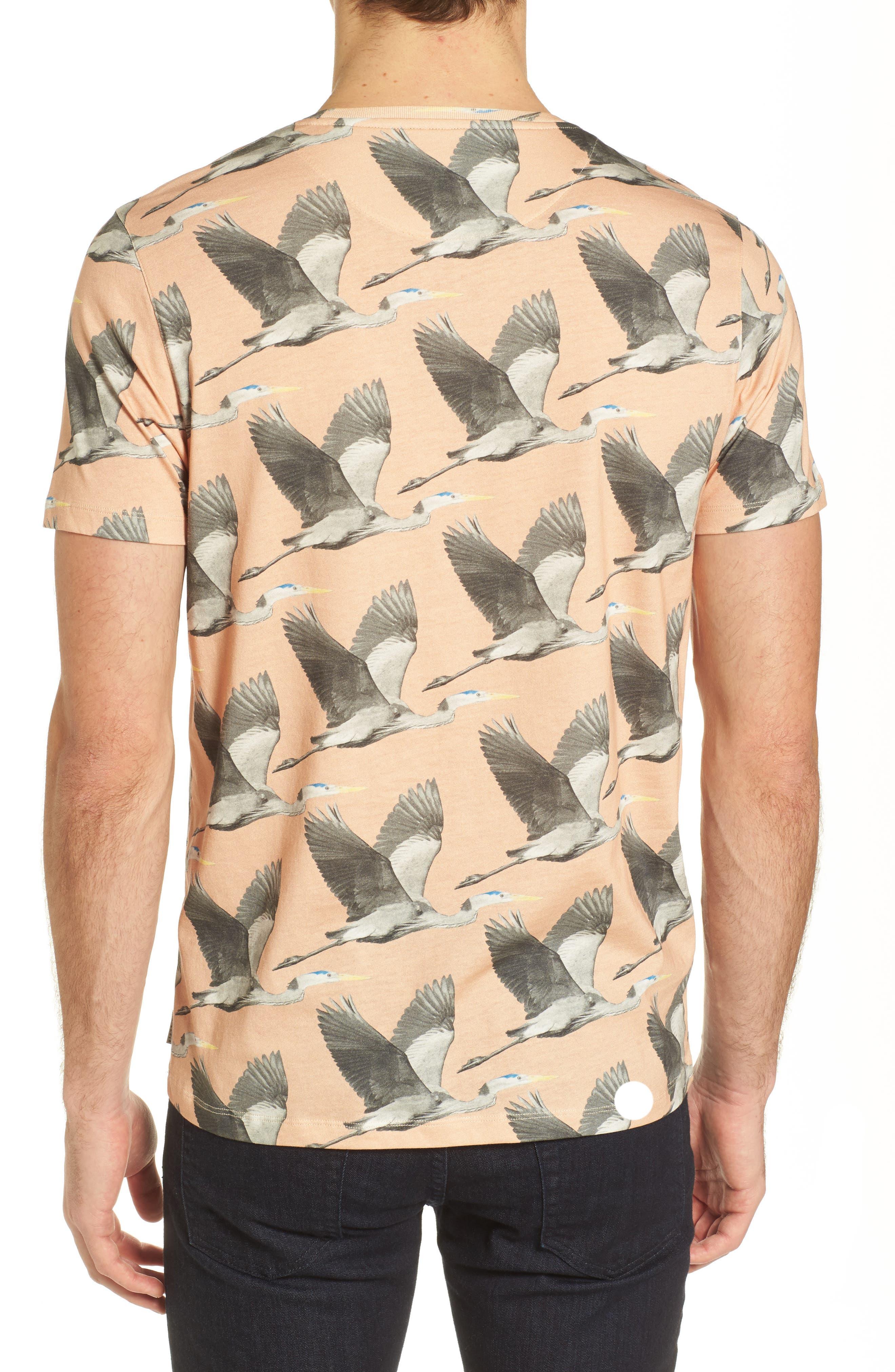 Alternate Image 2  - Ted Baker London Flute Blue Heron Print T-Shirt