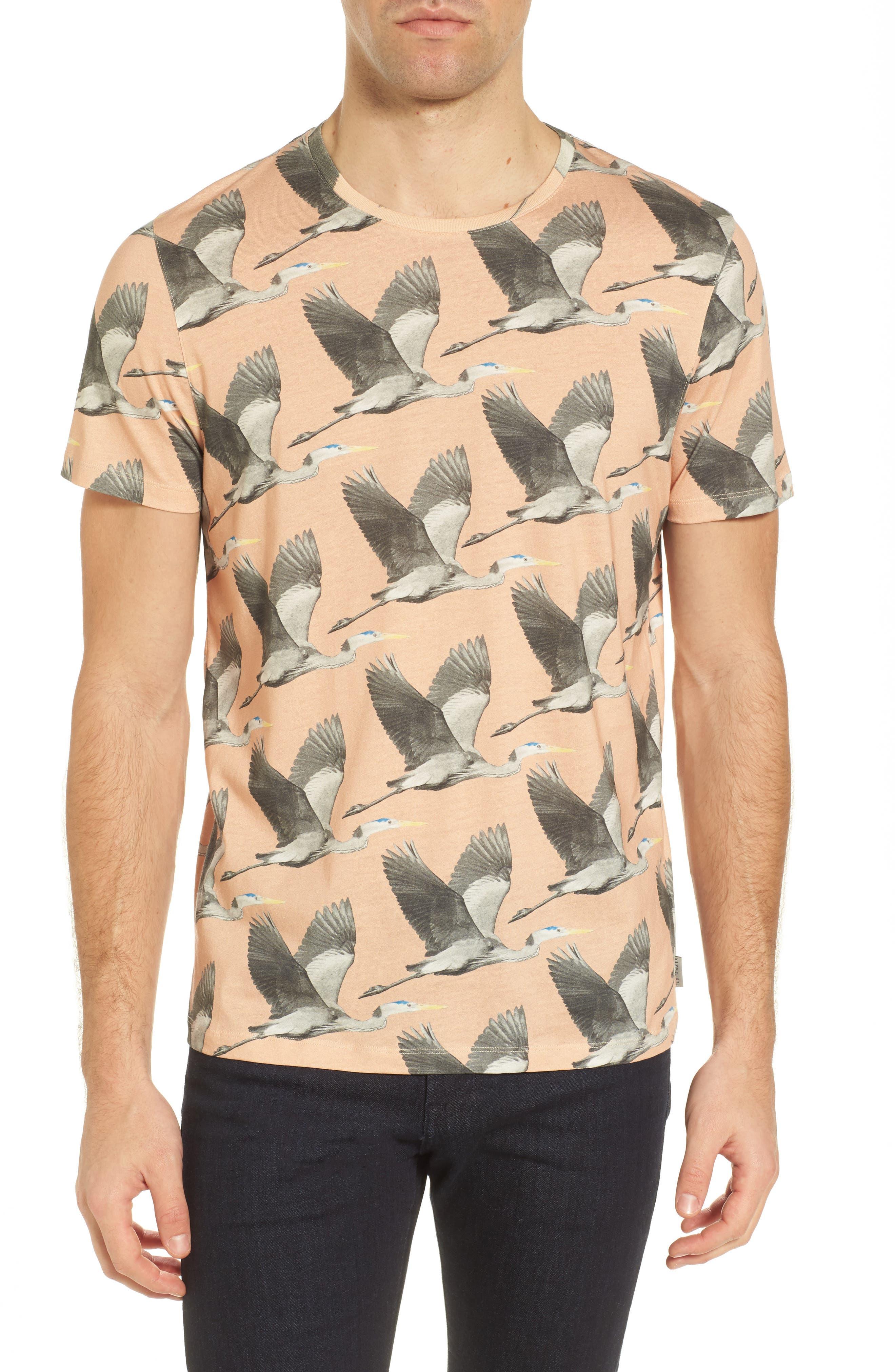 Alternate Image 1 Selected - Ted Baker London Flute Blue Heron Print T-Shirt