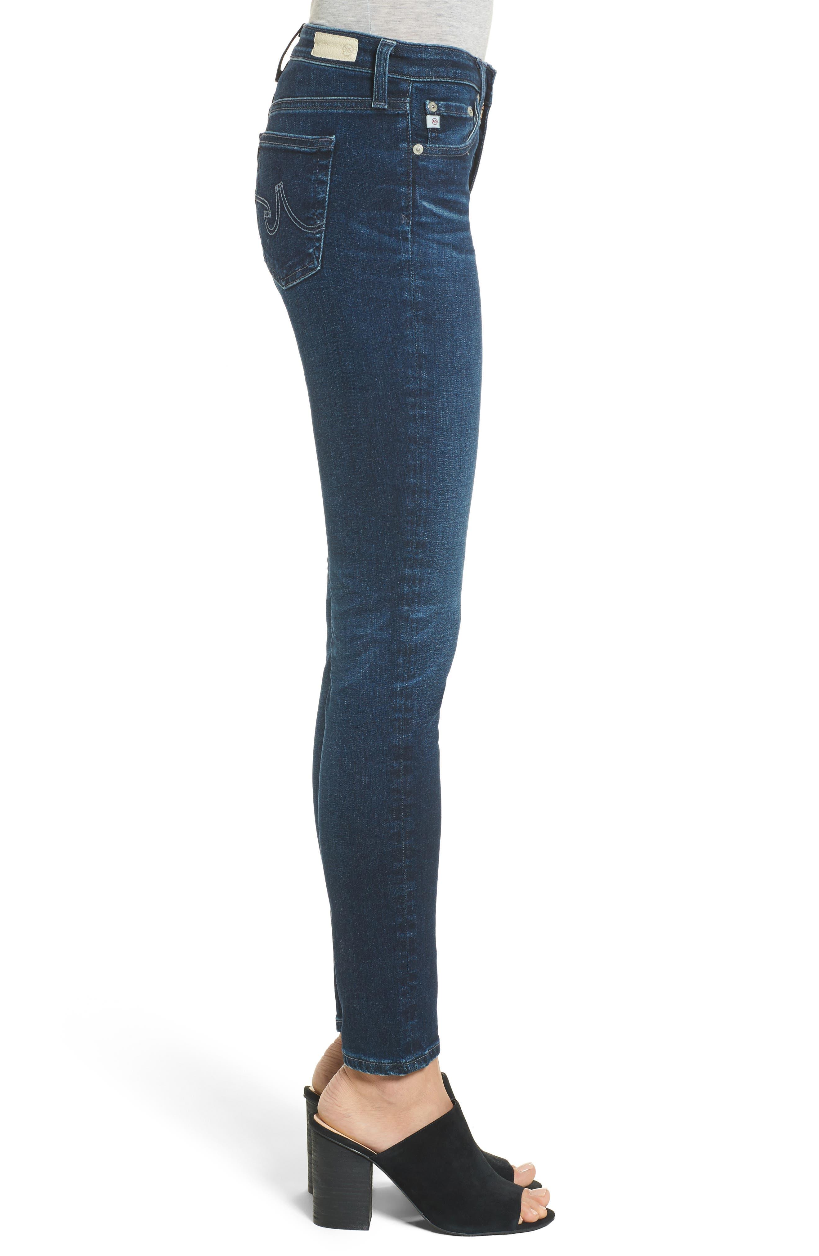 Alternate Image 3  - AG The Legging Ankle Super Skinny Jeans (04 Years Rapid)
