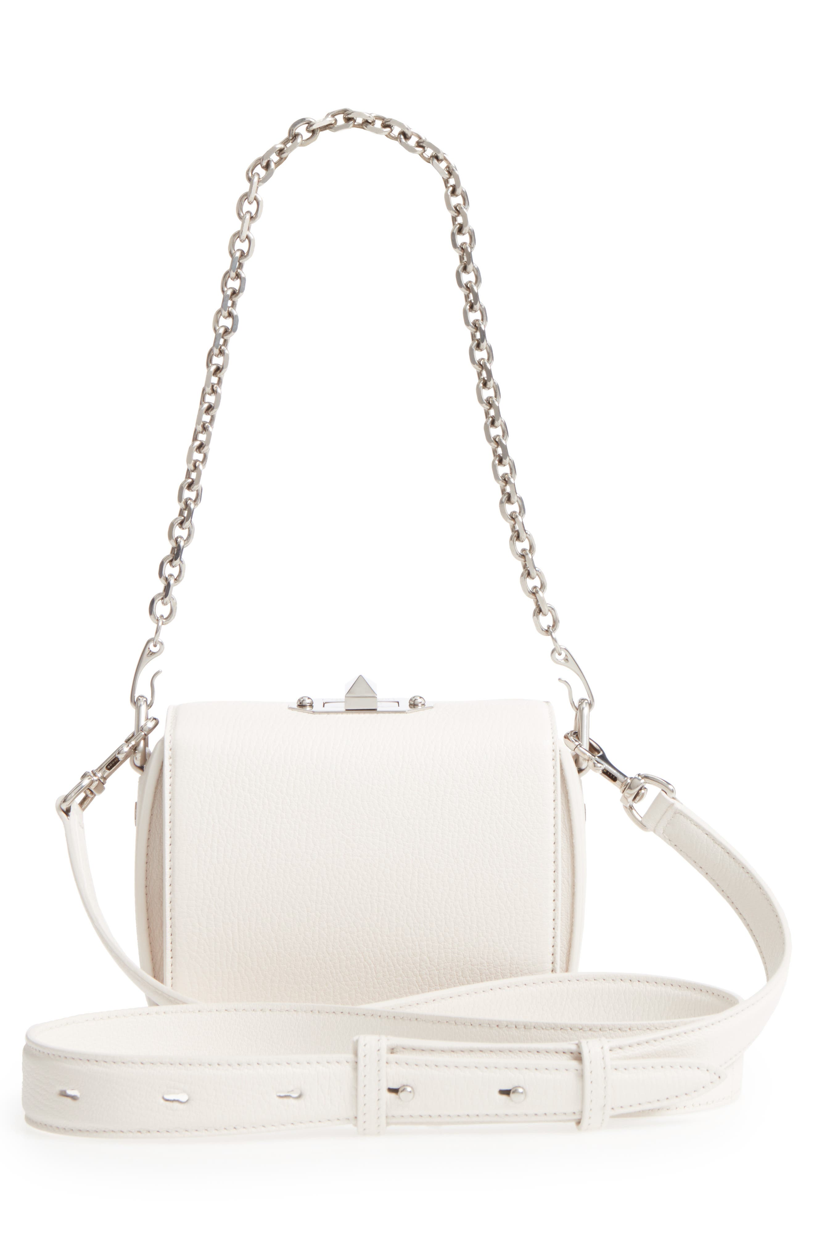 Alternate Image 3  - Alexander McQueen Box Bag 16 Grained Leather Bag