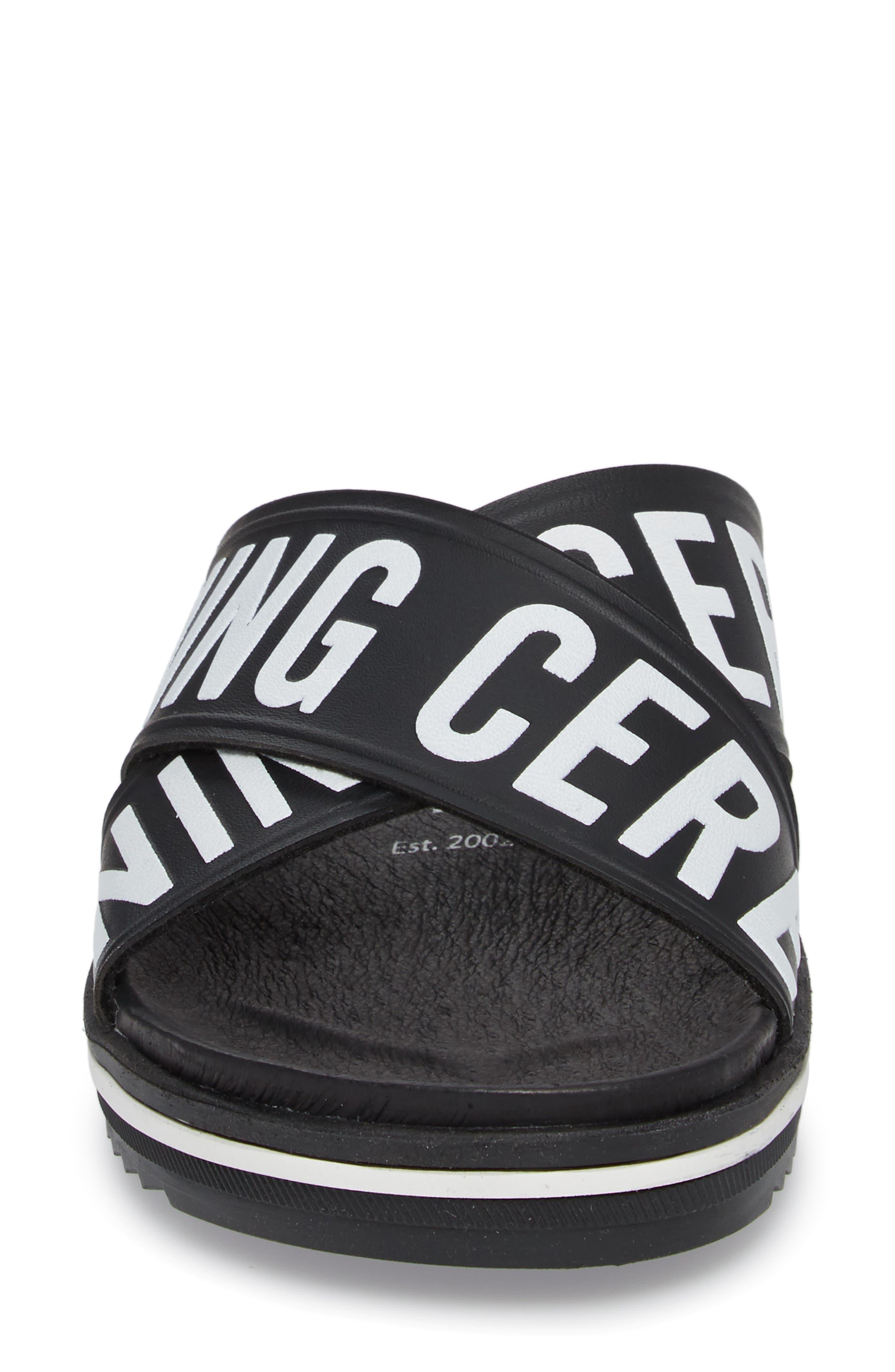 Berkeley Slide Sandal,                             Alternate thumbnail 4, color,                             Black Multi