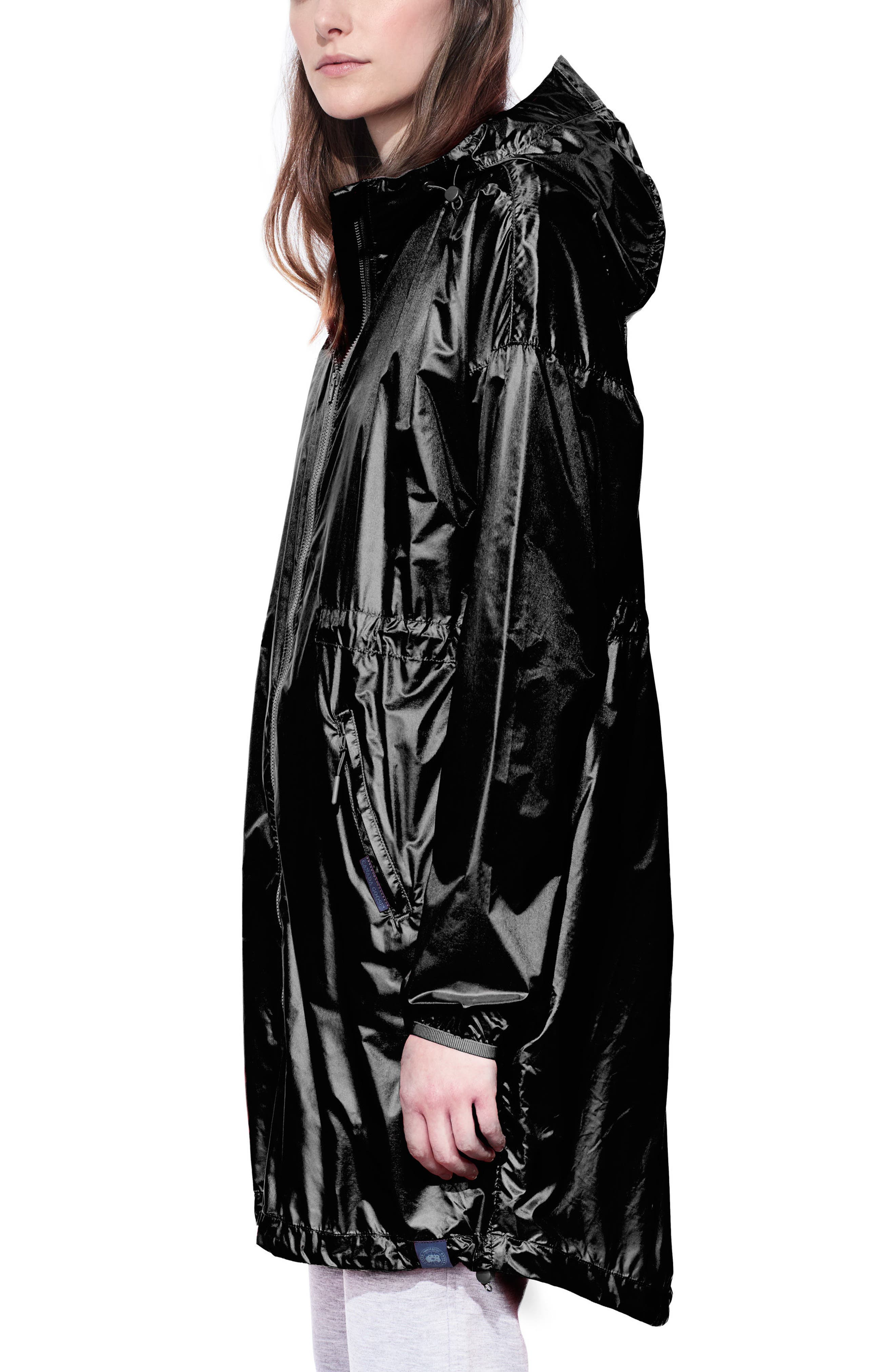 Rosewell Hooded Jacket,                             Alternate thumbnail 3, color,                             Black