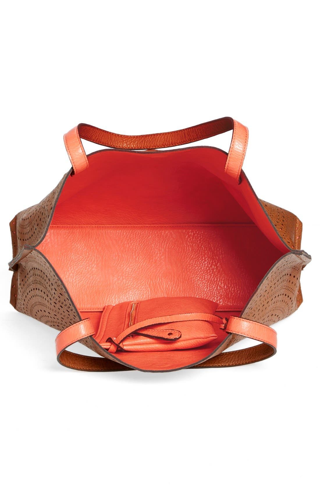 Alternate Image 3  - Street Level Laser Cut Reversible Faux Leather Tote