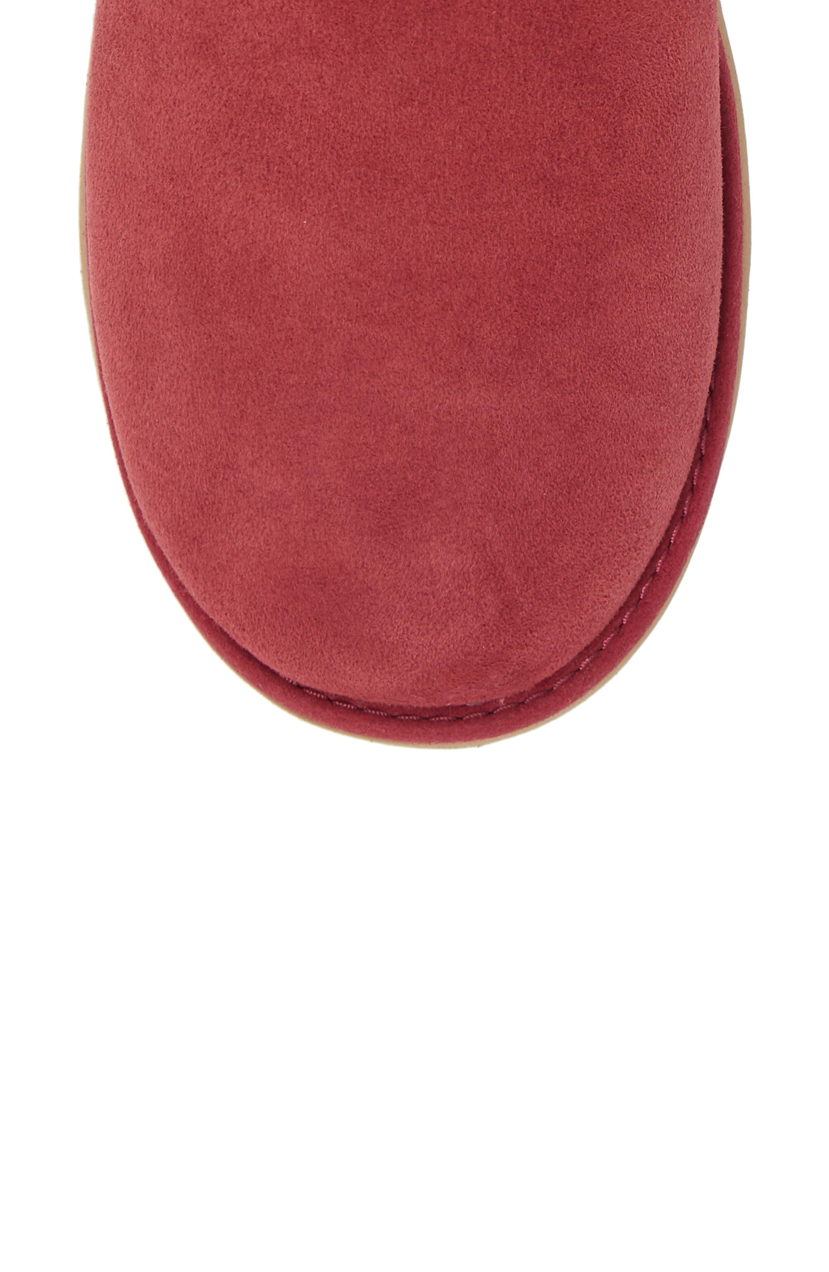 Classic Cuff Mini Boot,                             Alternate thumbnail 5, color,                             Garnet Suede
