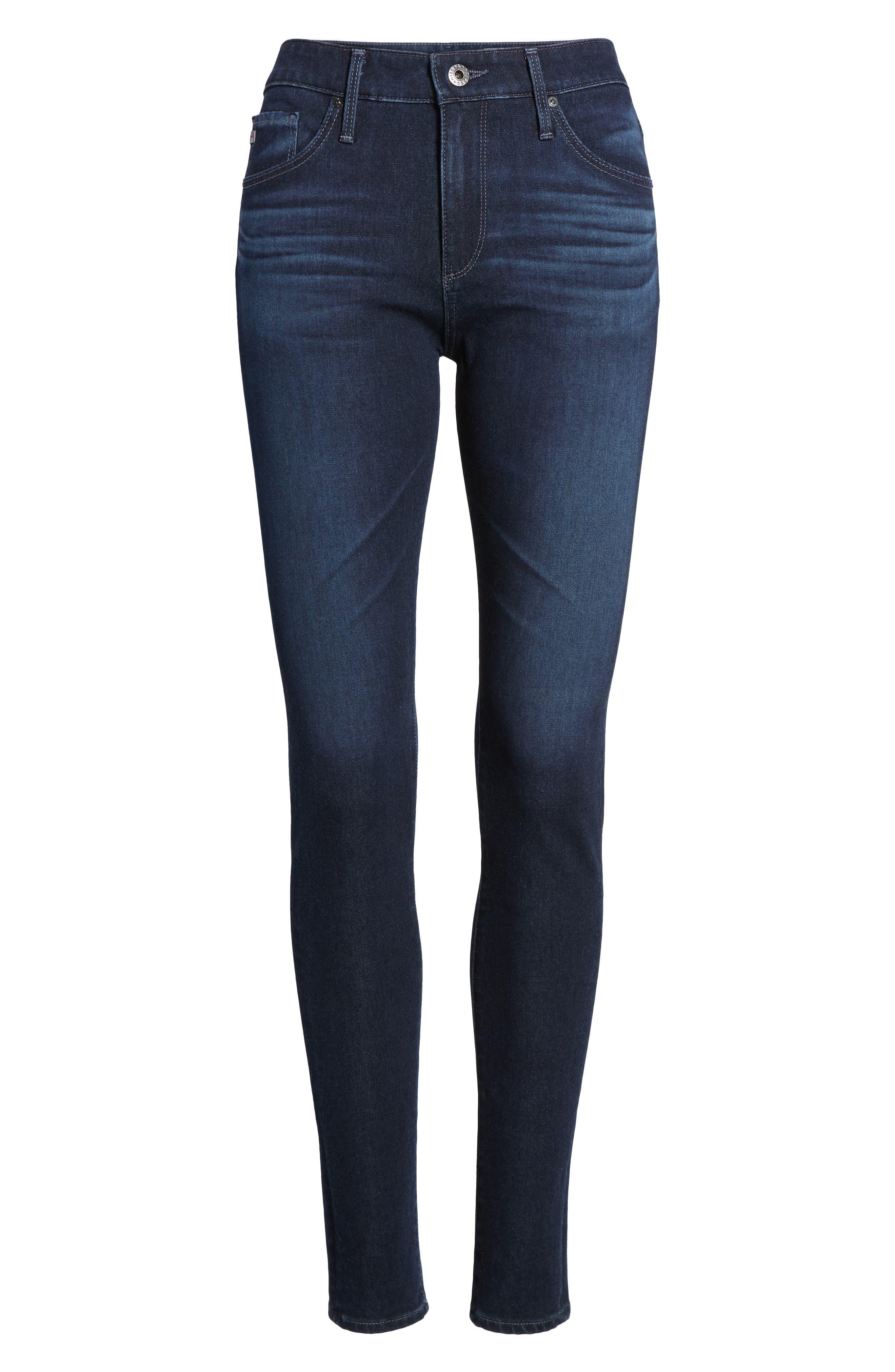Alternate Image 6  - AG The Farrah High Waist Skinny Jeans