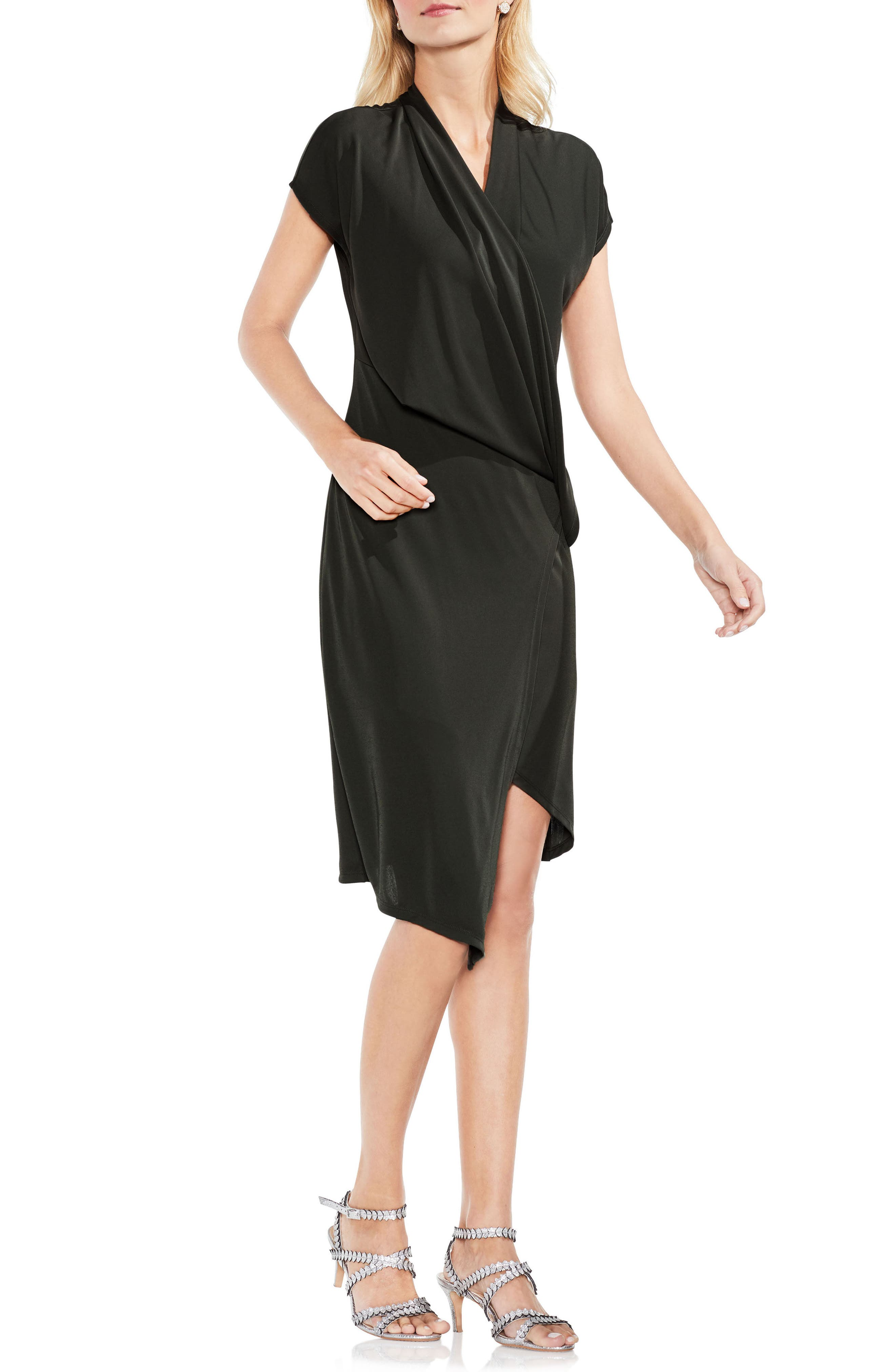 Alternate Image 1 Selected - Vince Camuto Draped Faux Wrap Dress