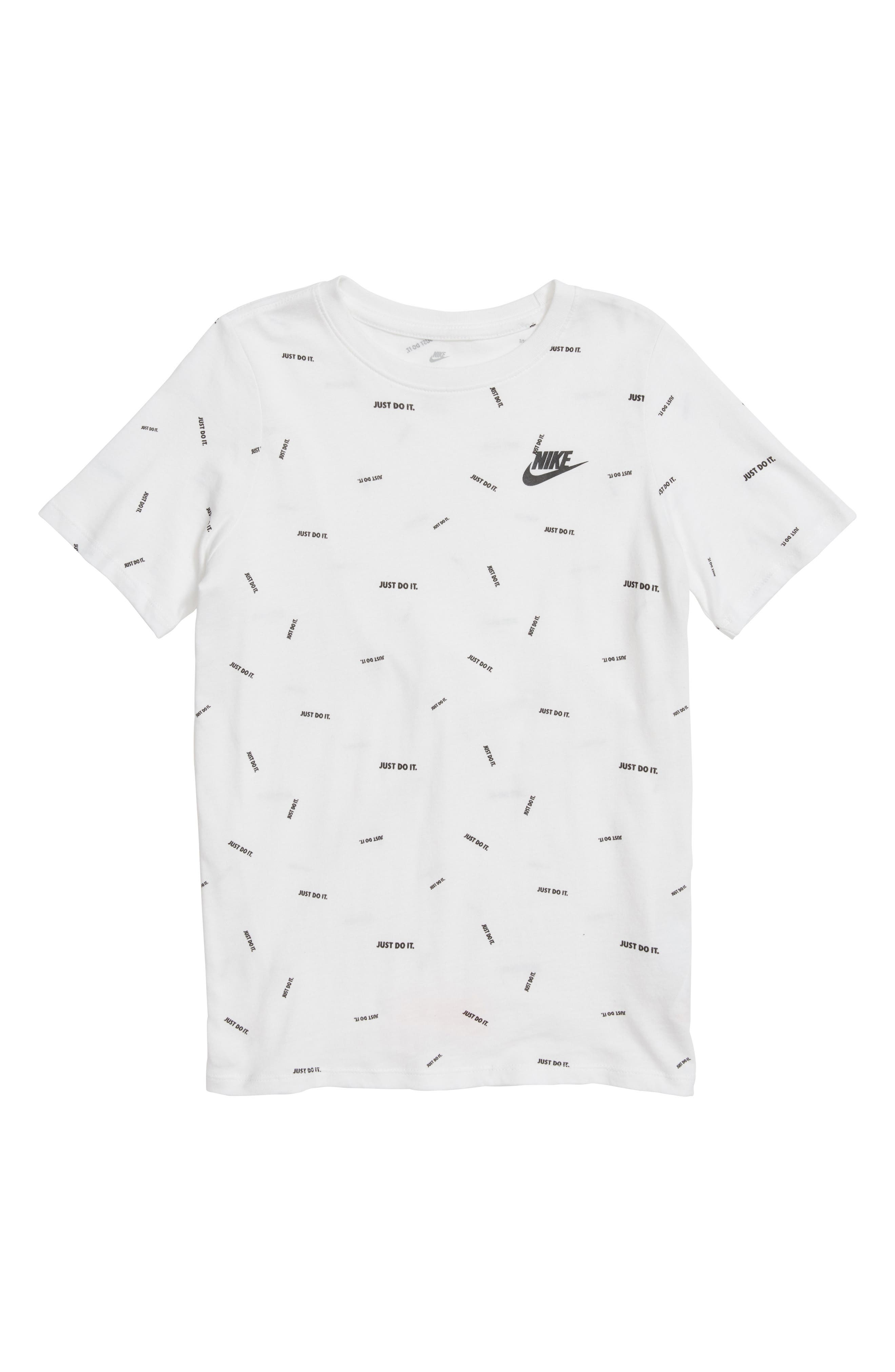 Just Do It Confetti Graphic T-Shirt,                         Main,                         color, White/ Black