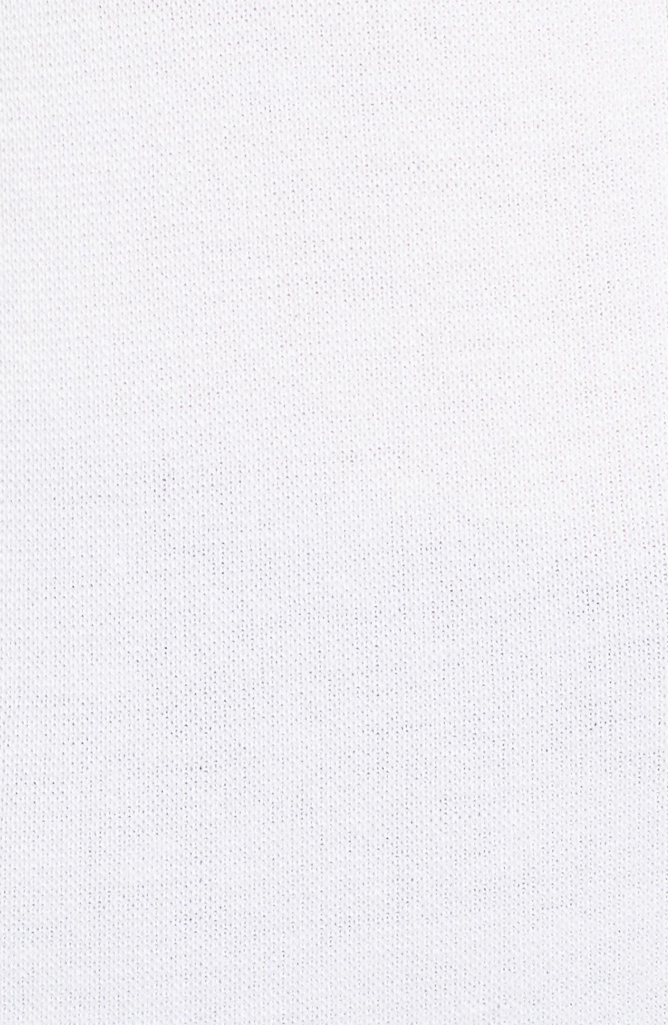 Long Knit Tank,                             Alternate thumbnail 5, color,                             White