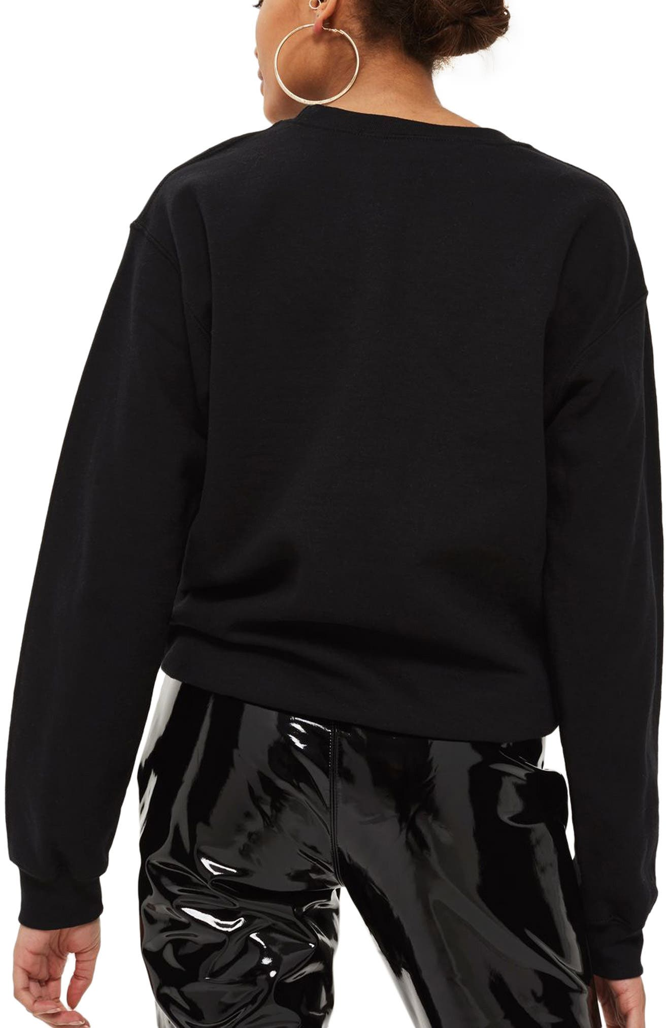 Milan Graphic Sweatshirt,                             Alternate thumbnail 2, color,                             Black Multi