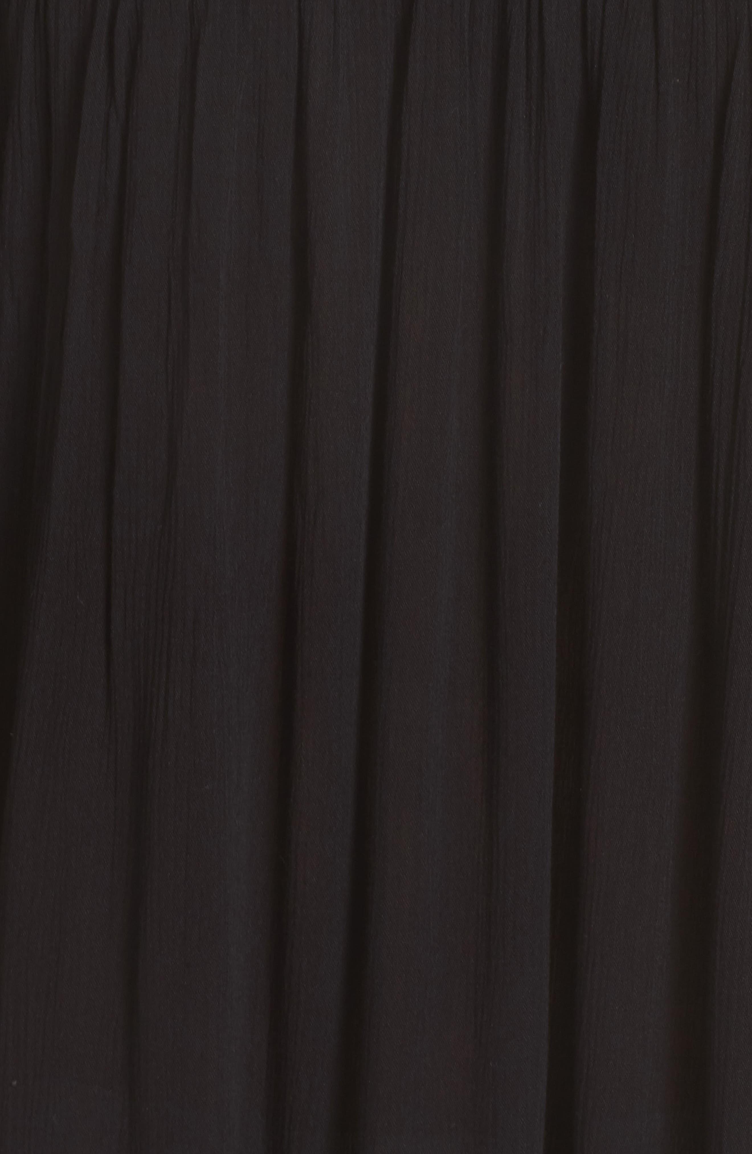 Rimini Crochet Cover-Up Dress,                             Alternate thumbnail 5, color,                             Black