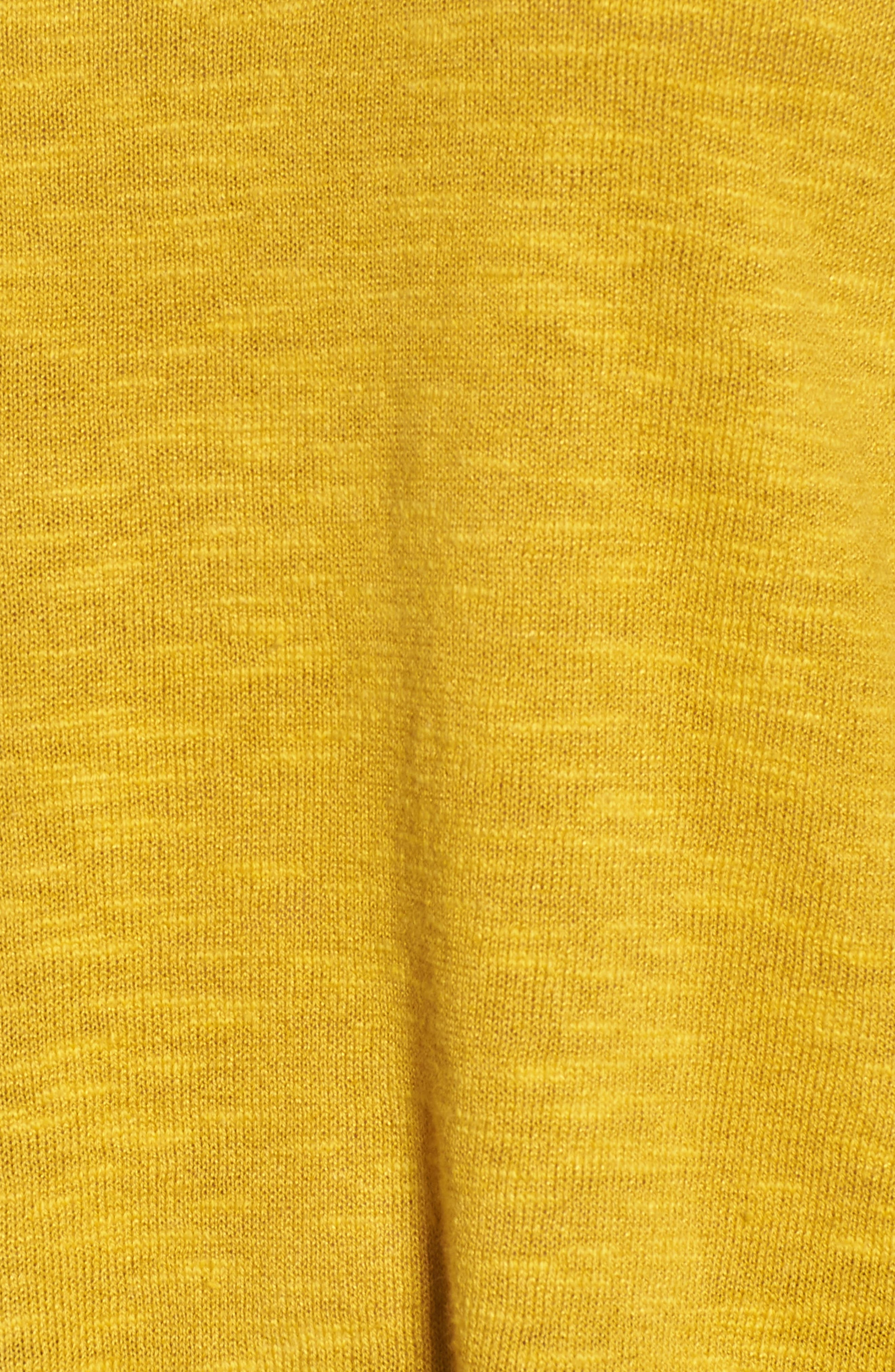 Organic Knit Crewneck Tunic Top,                             Alternate thumbnail 5, color,                             Mustard Seed